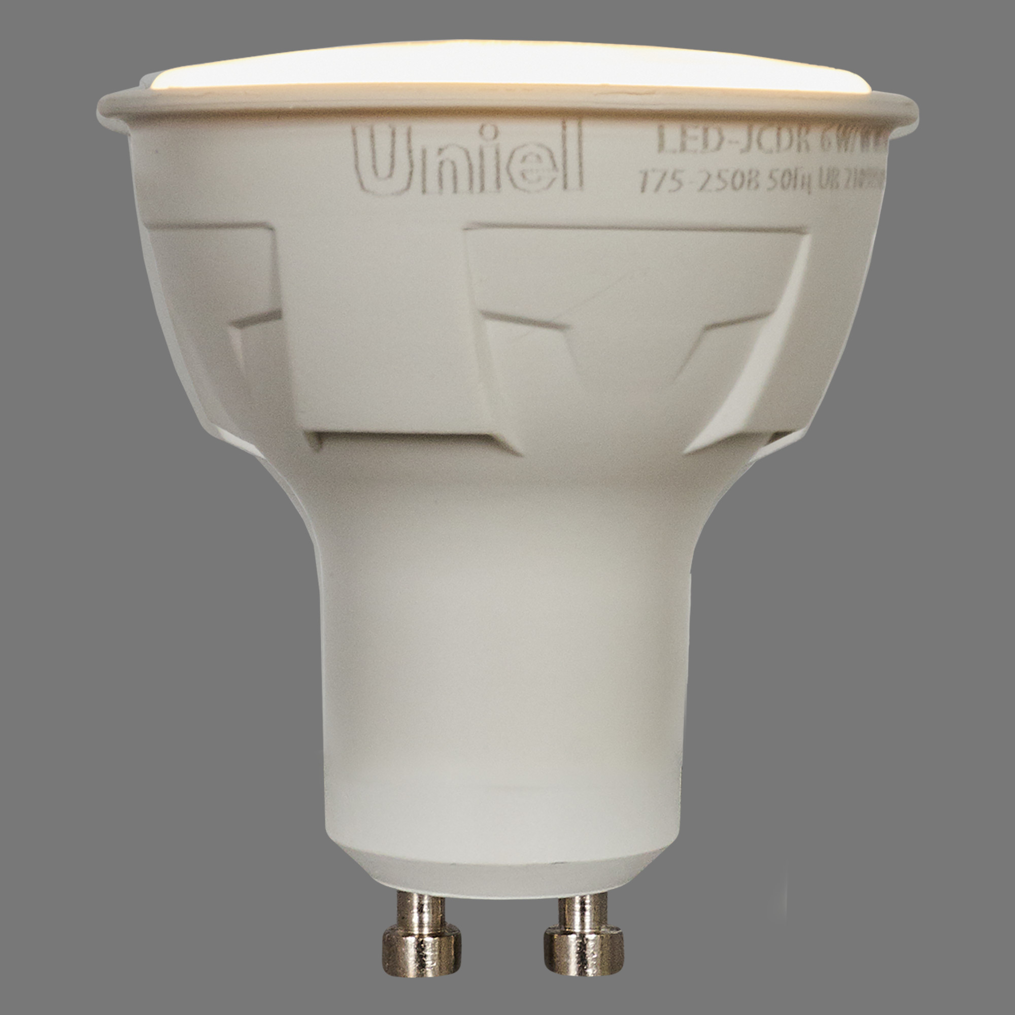 Лампа светодиодная Uniel GU10 220 В 6 Вт спот 500 лм тёплый белый свет