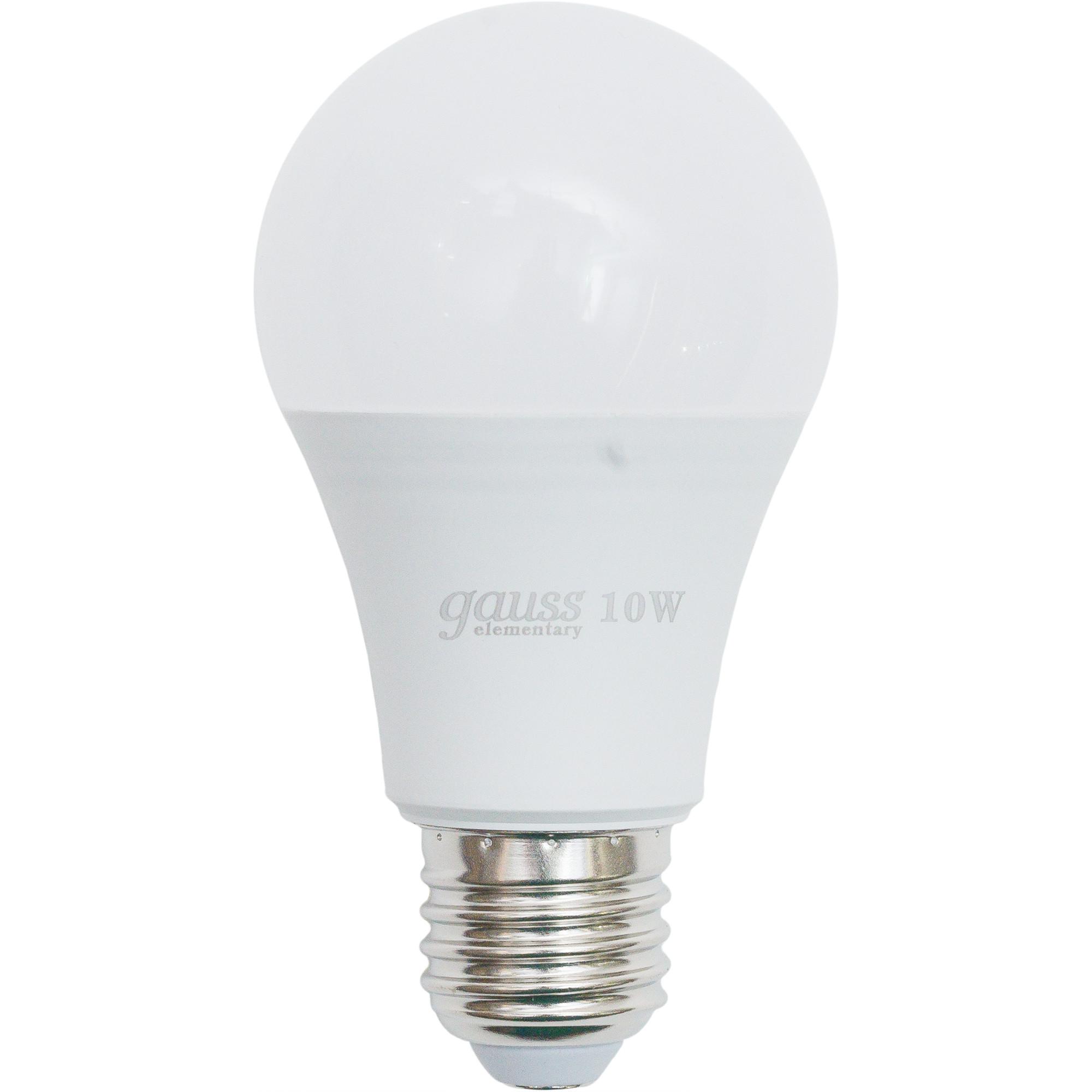 Лампа светодиодная Elementary E27 220 В 10 Вт груша матовая 920 лм нейтральный белый свет