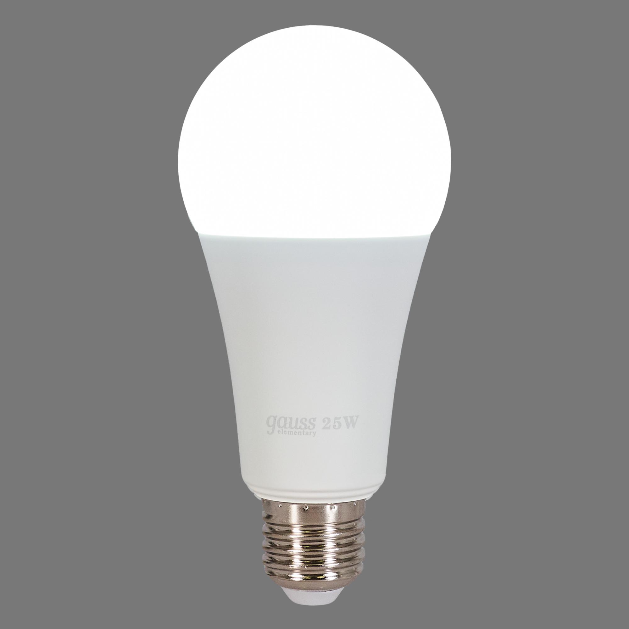 Лампа светодиодная Gauss LED Elementary A67 E27 220 В 25 Вт груша матовая 2150 лм холодный белый свет