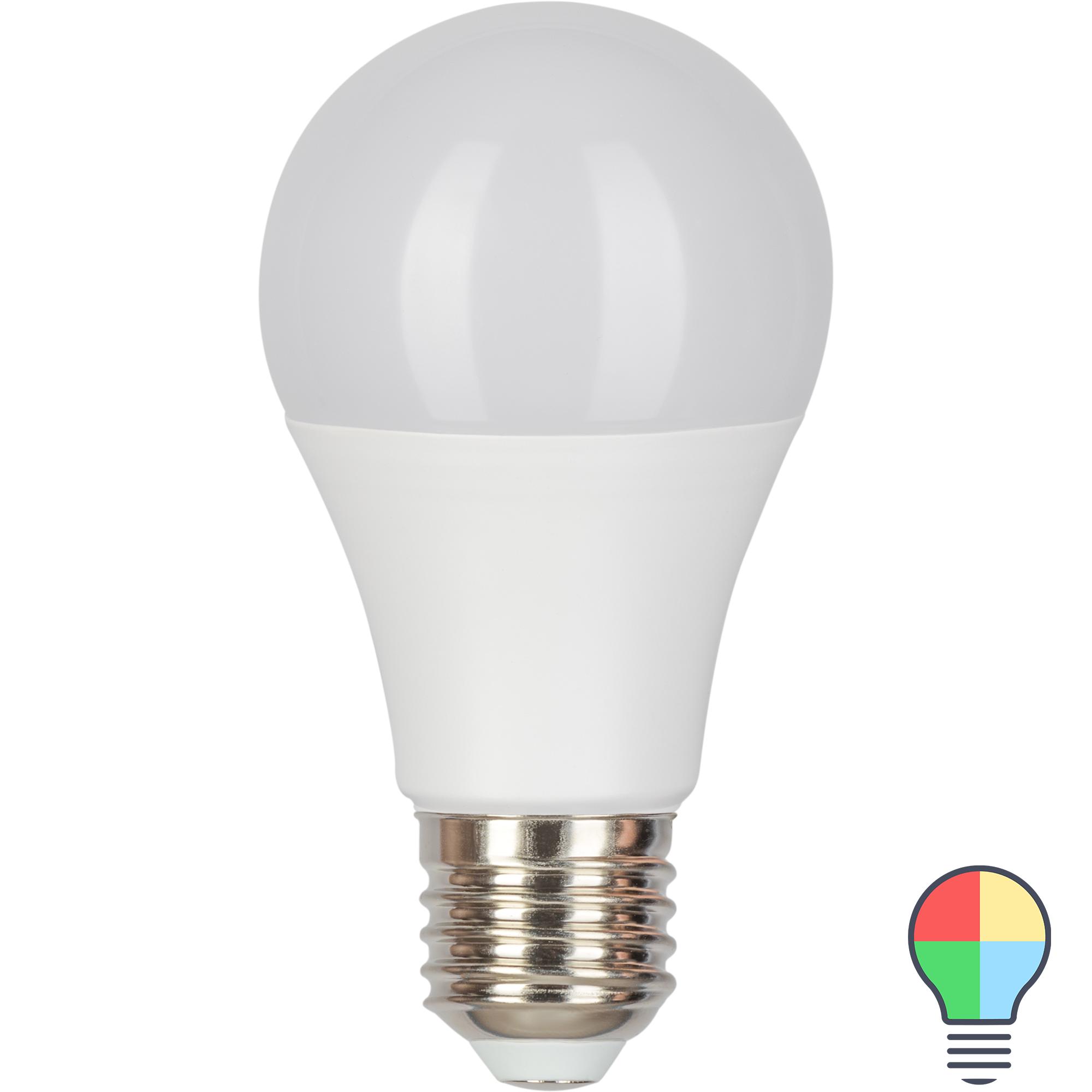 Лампа светодиодная Gauss E27 220-240 В 10 Вт груша матовая 880 лм регулируемый цвет света RGBW