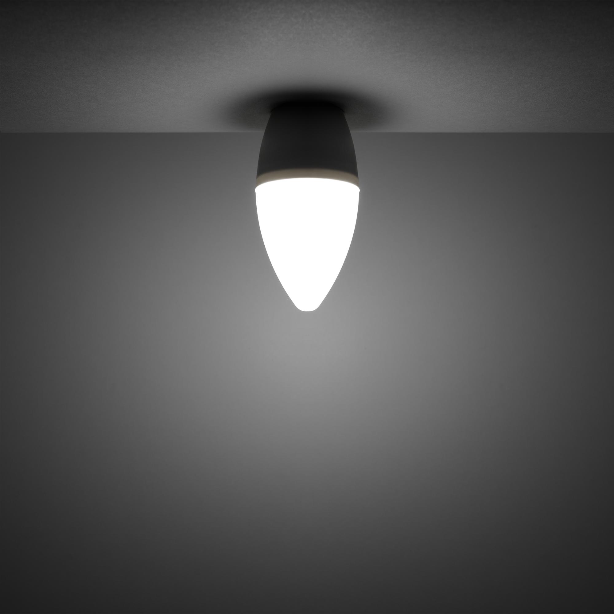 Лампа светодиодная Gauss E14 220-240 В 6 Вт свеча матовая 440 лм регулируемый цвет света RGBW