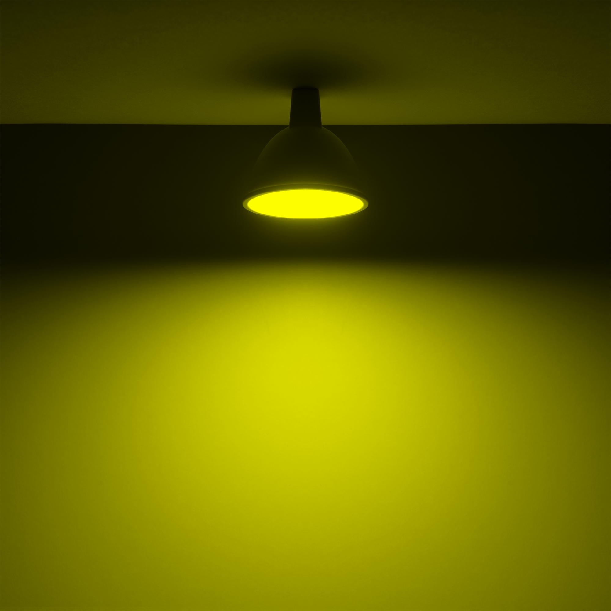 Лампа светодиодная Gauss GU5.3 220-240 В 6 Вт спот матовая 440 лм регулируемый цвет света RGBW