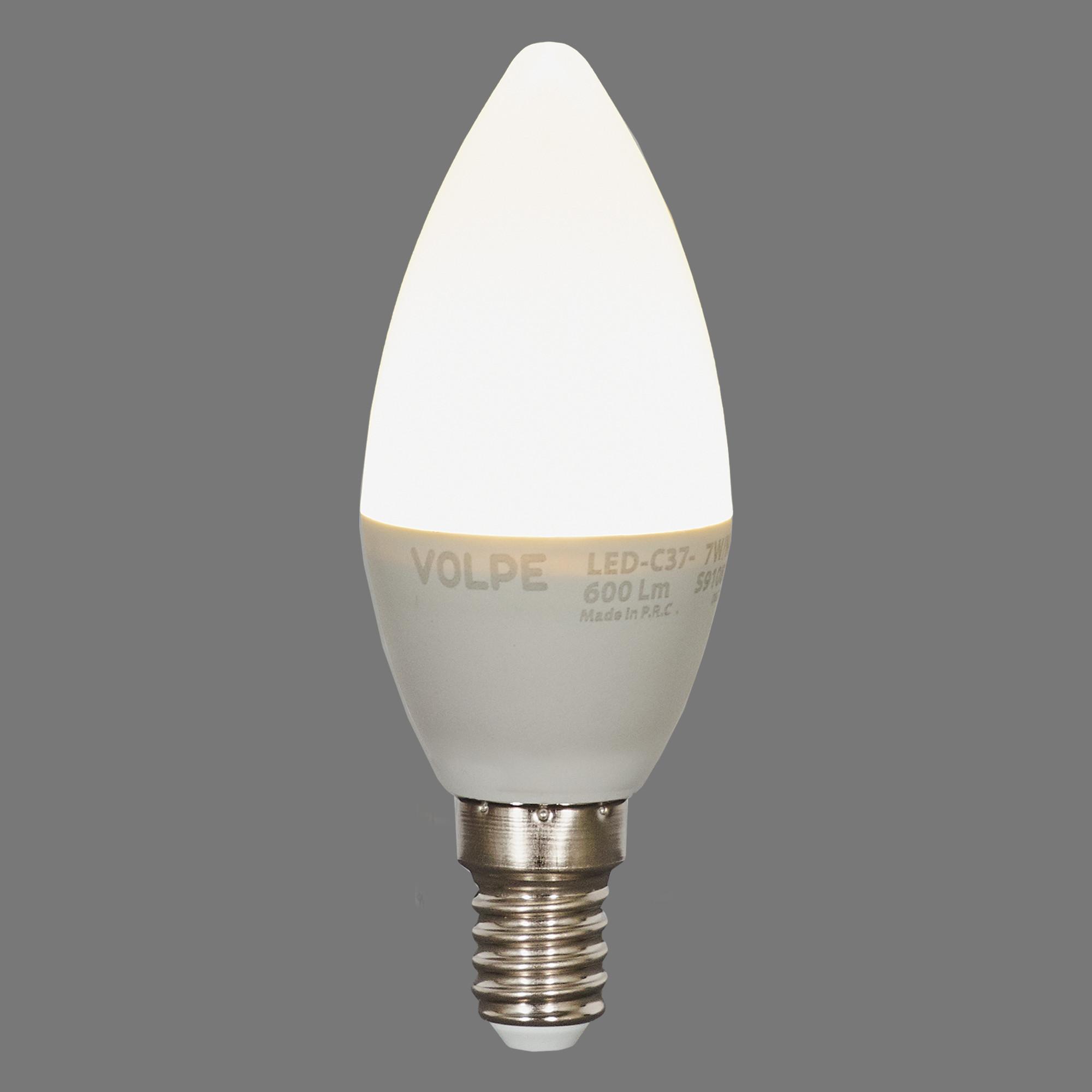 Лампа светодиодная Volpe Norma E14 220 В 7 Вт свеча 600 лм белый свет