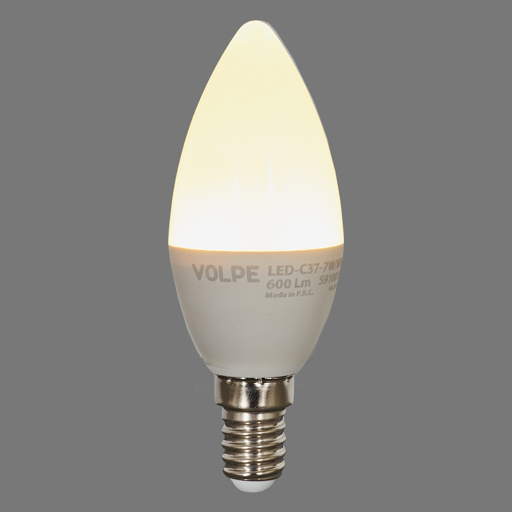Лампа светодиодная Volpe Norma E14 220 В 7 Вт свеча 600 лм тёплый белый свет