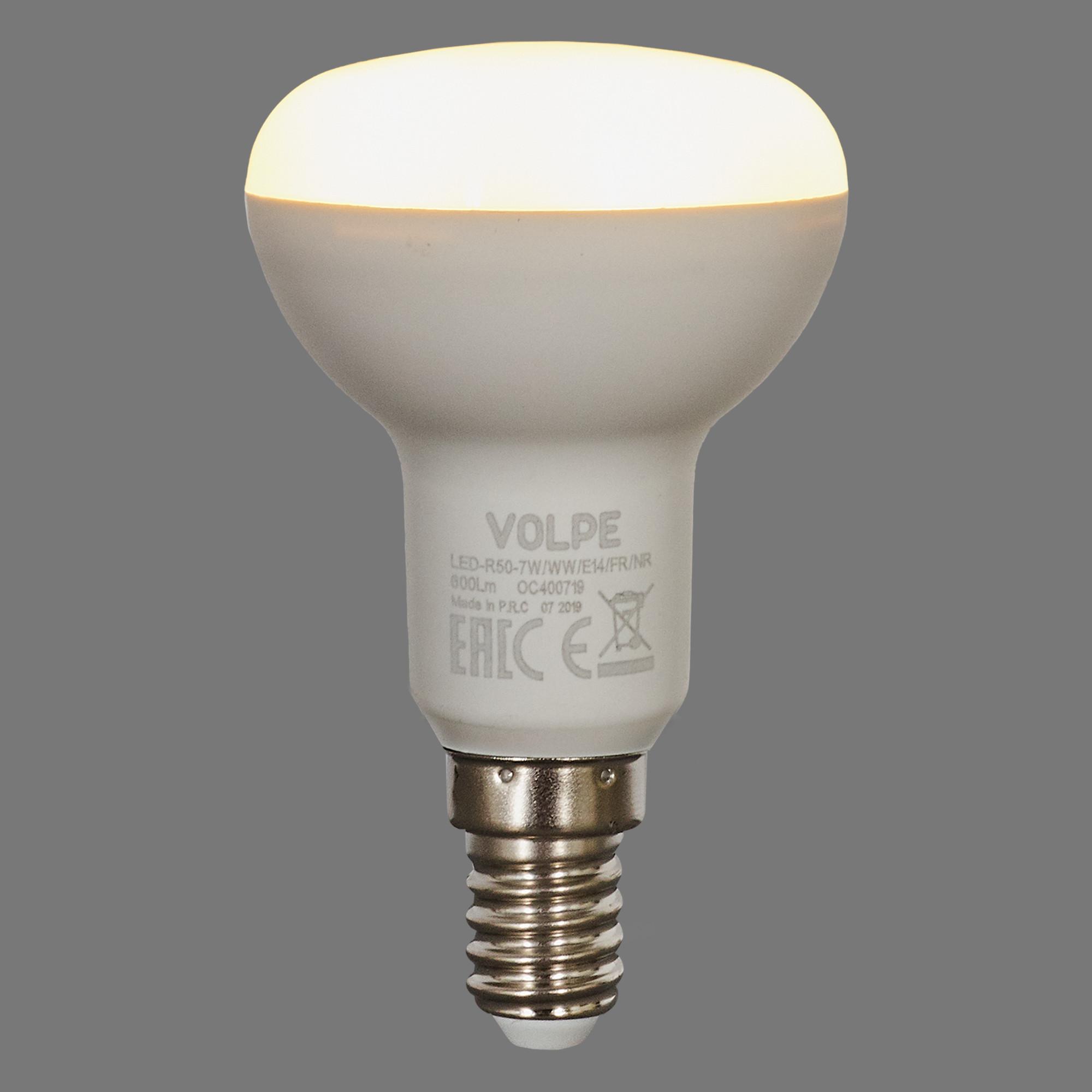 Лампа светодиодная Volpe Norma E14 220 В 7 Вт зеркальная 600 лм тёплый белый свет