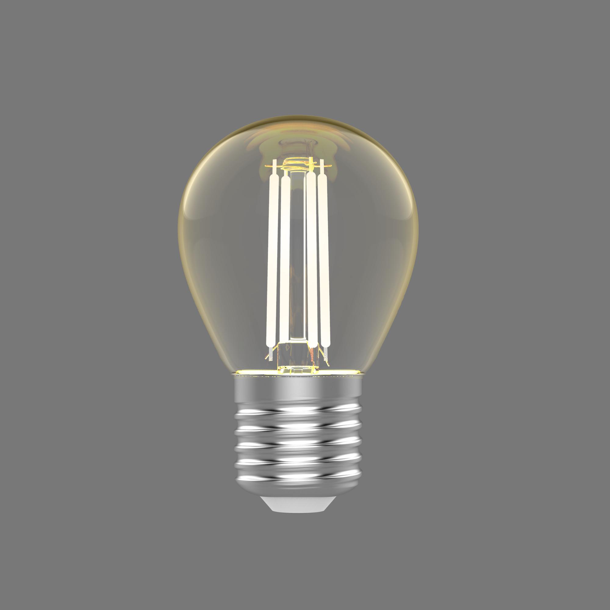 Лампа светодиодная Gauss E27 220 В 4.5 Вт шар 400 лм тёплый белый свет