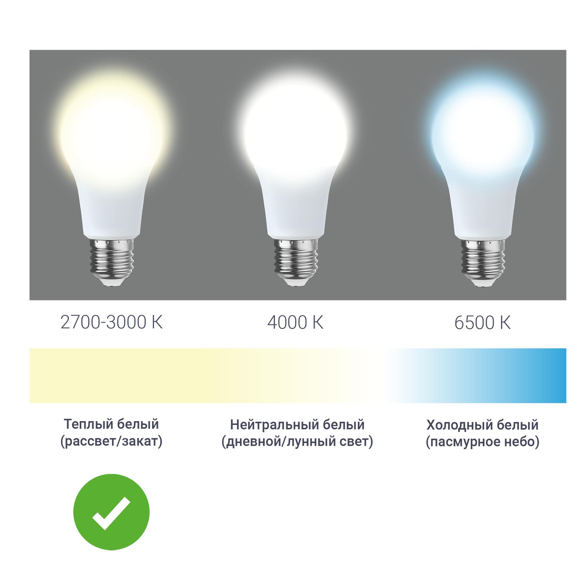 Лампа светодиодная Gauss Basic E27 220 В 7.5 Вт шар 670 лм тёплый белый свет