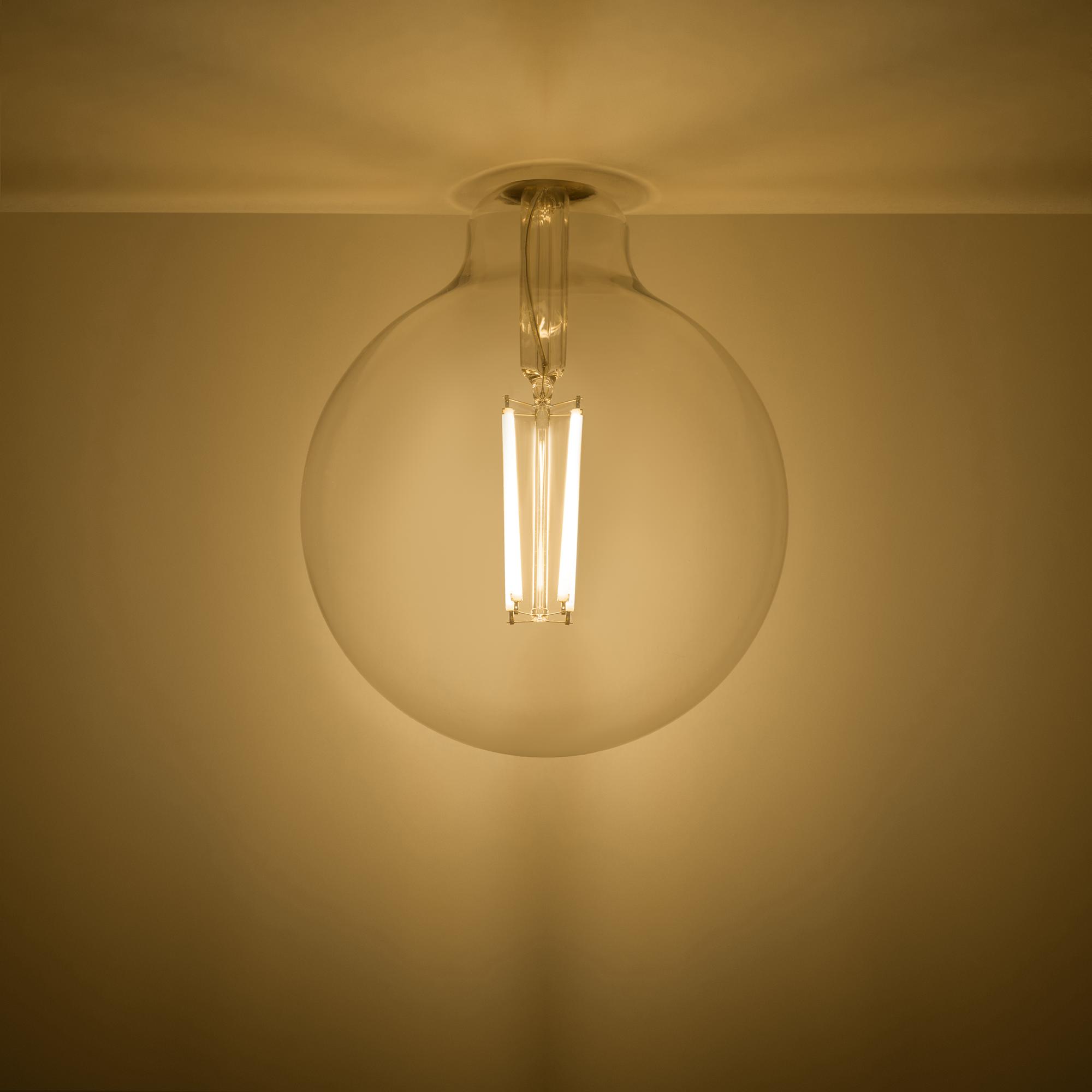 Лампа светодиодная Gauss Basic Filament E27 220 В 11.5 Вт шар декоративный прозрачный 1490 лм тёплый белый свет