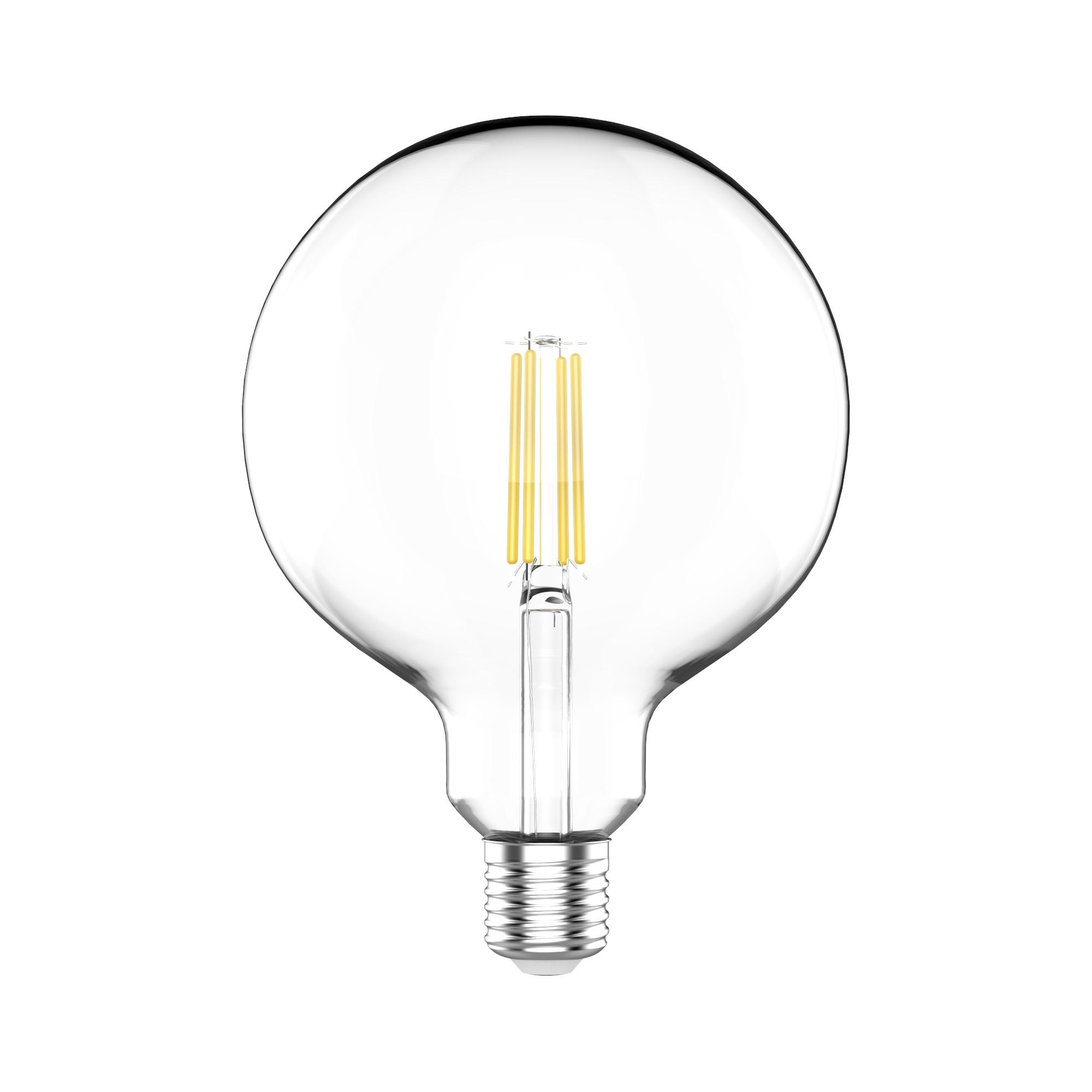 Лампа светодиодная Gauss Basic Filament E27 220 В 11.5 Вт шар декоративный прозрачный 1520 лм нейтральный белый свет