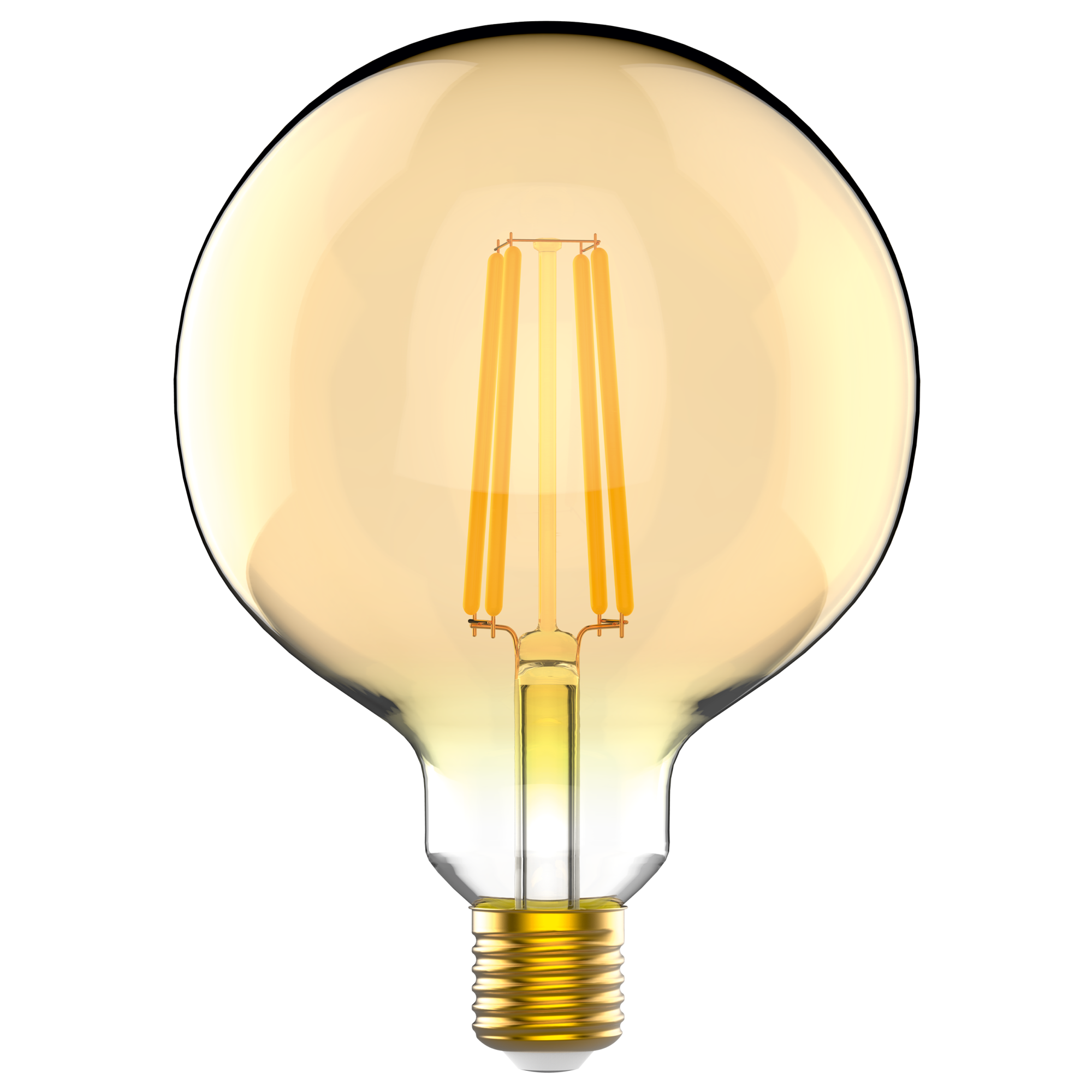 Лампа светодиодная Gauss E27 220 В 5.5 Вт шар янтарный 300 лм желтый свет