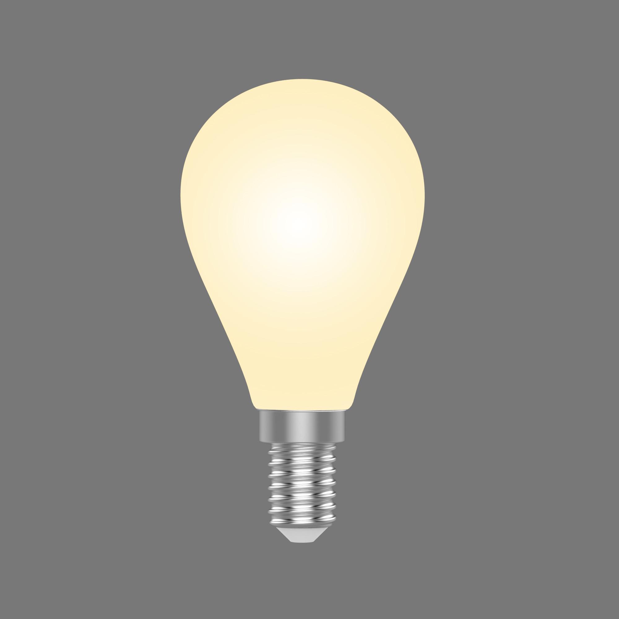 Лампа светодиодная Gauss E14 220 В 4.5 Вт шар 380 лм свет тёплый белый