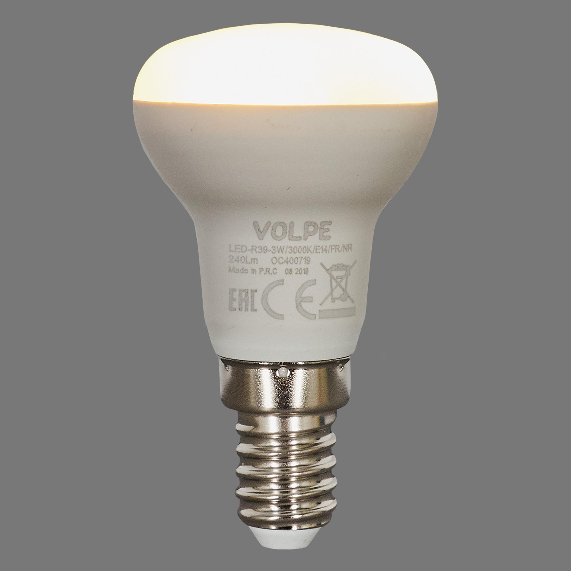 Лампа светодиодная Volpe Norma E14 220 В 3 Вт зеркальная 240 лм тёплый белый свет