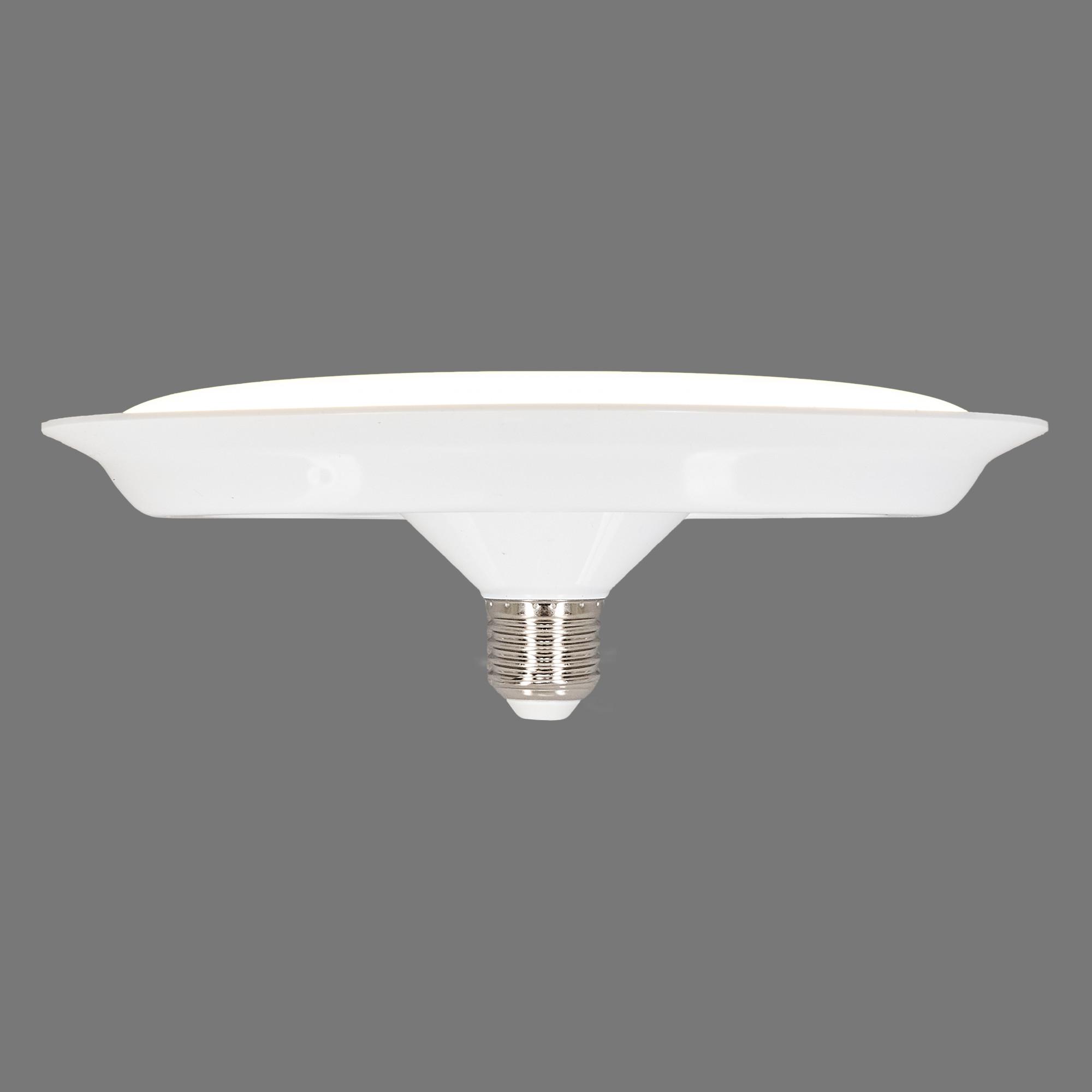 Лампа светодиодная Uniel UFO220 E27 220 В 40 Вт диск матовый 3200 лм тёплый белый свет