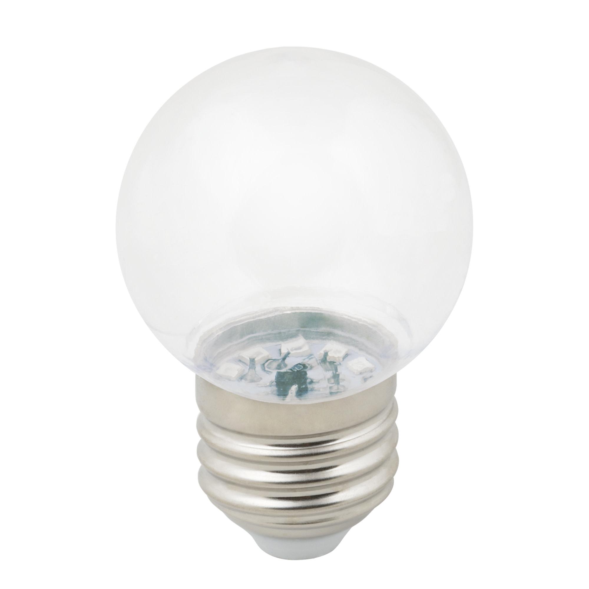 Лампа светодиодная Volpe E27 220 В 1 Вт шар прозрачный 80 лм тёплый белый свет