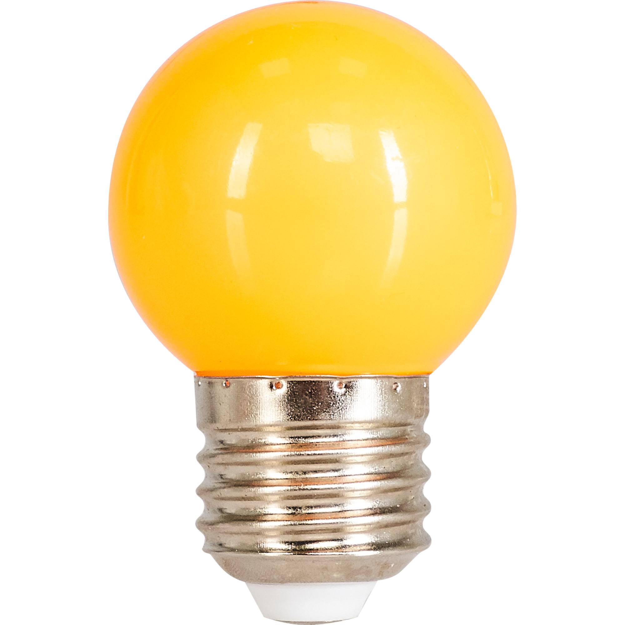 Лампа светодиодная Volpe E27 220 В 1 Вт шар матовый 80 лм оранжевый свет