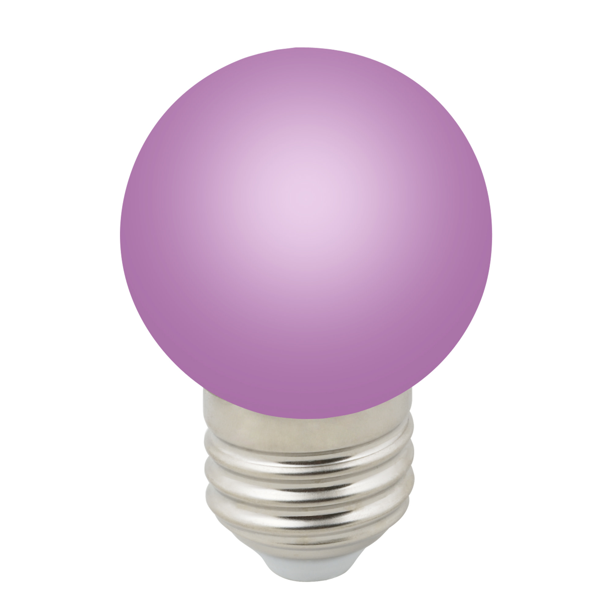 Лампа светодиодная Volpe E27 220 В 1 Вт шар матовый 80 лм фиолетовый свет