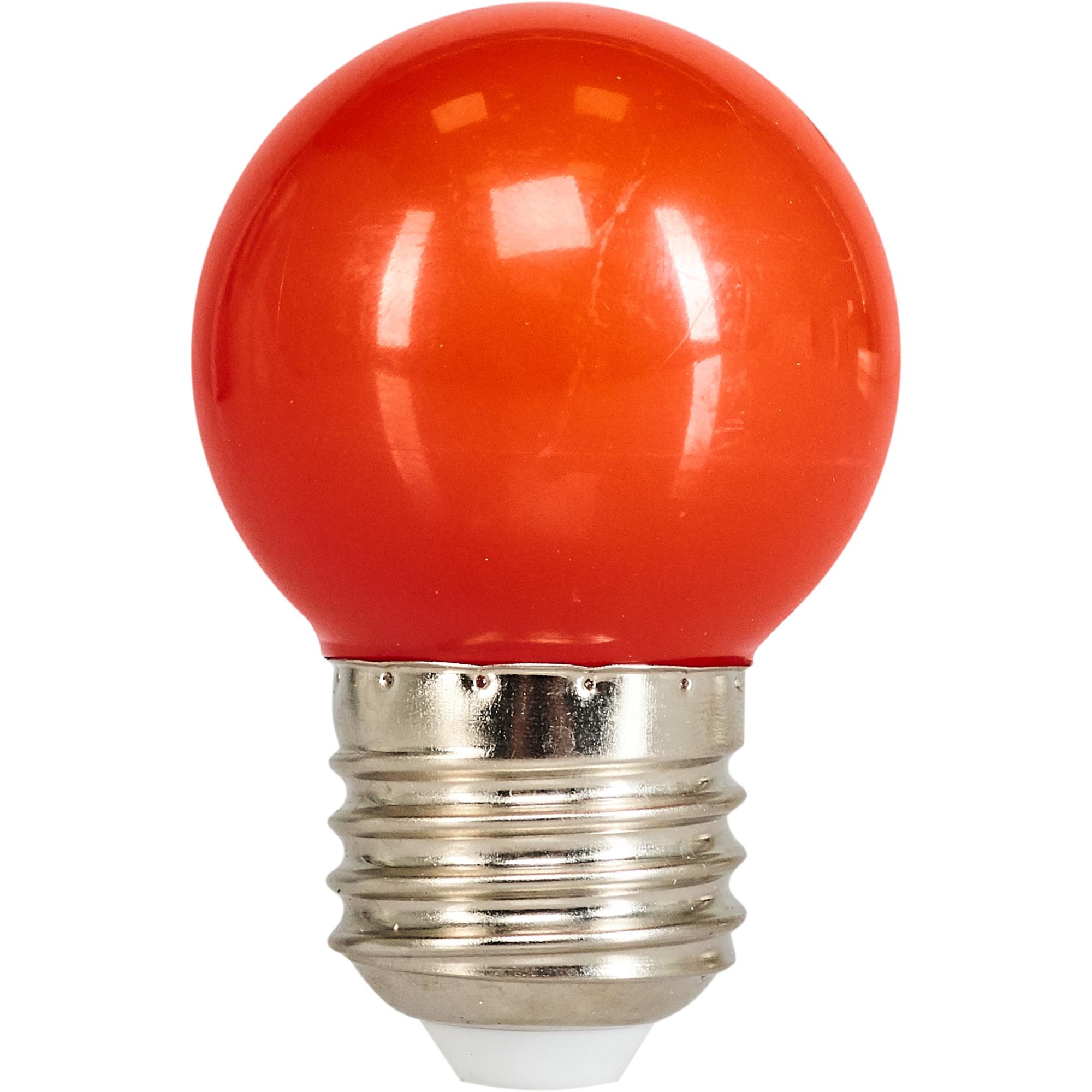 Лампа светодиодная Volpe E27 220 В 1 Вт шар матовый 80 лм красный свет