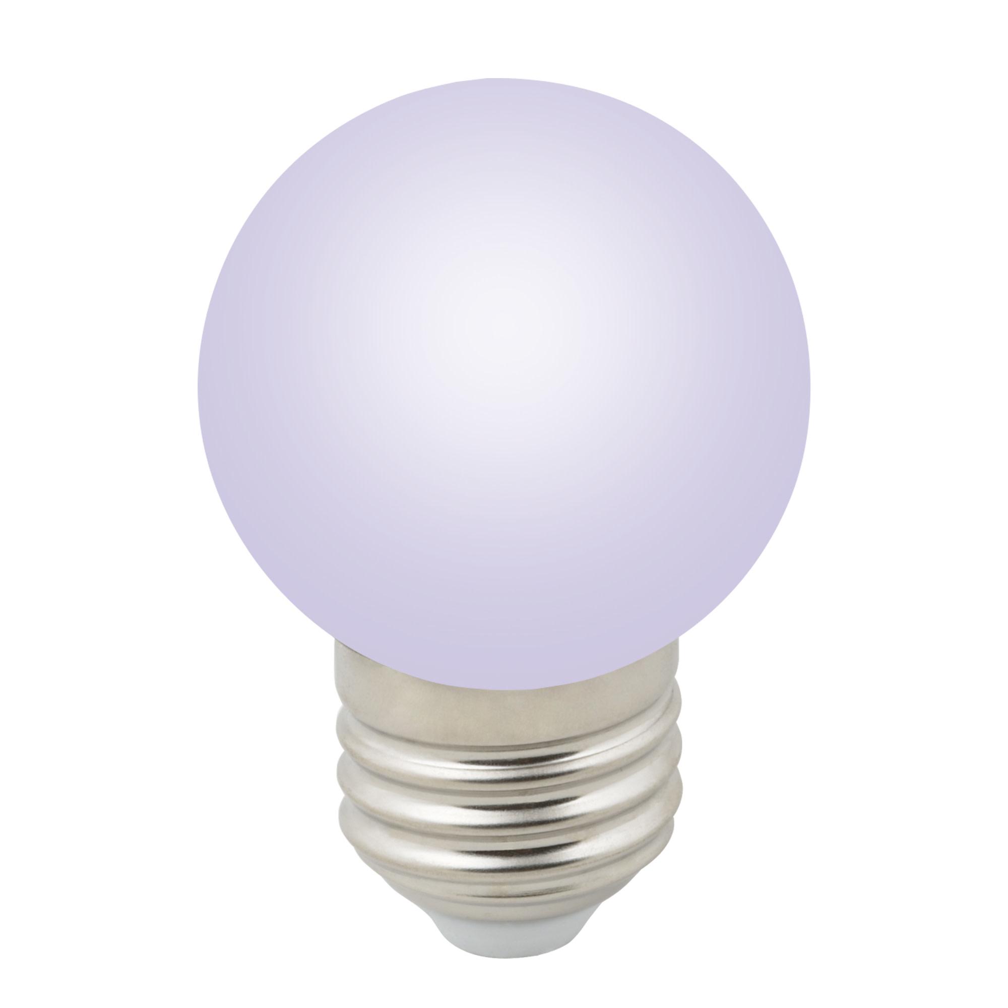 Лампа светодиодная Volpe E27 220 В 1 Вт шар матовый 80 лм RGB свет