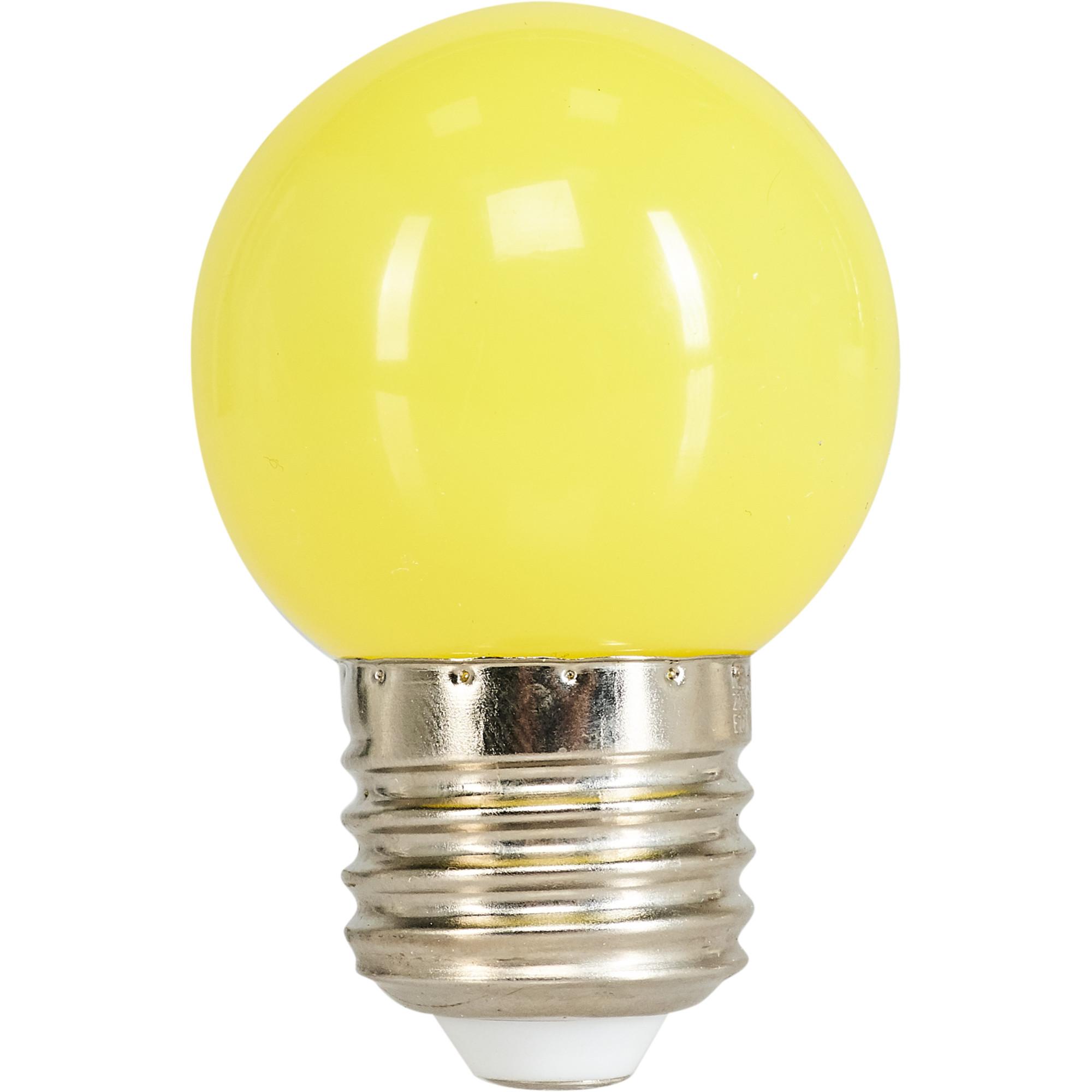 Лампа светодиодная Volpe E27 220 В 1 Вт шар матовый 80 лм жёлтый свет