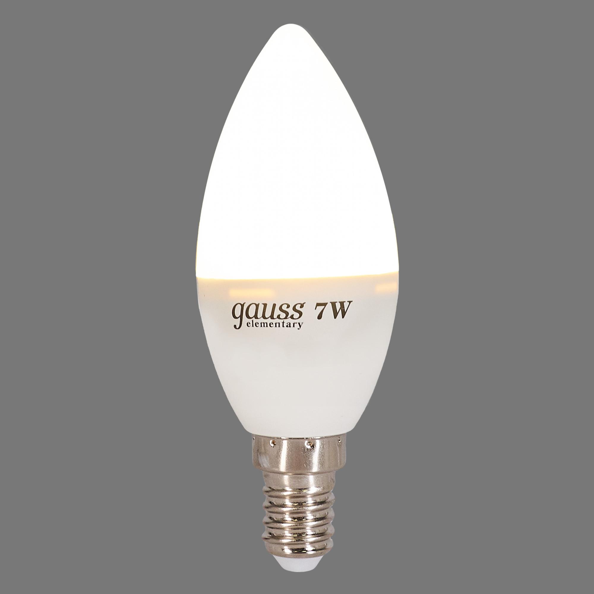 Лампа светодиодная E14 230 В 7 Вт свеча матовая 420 лм тёплый белый свет