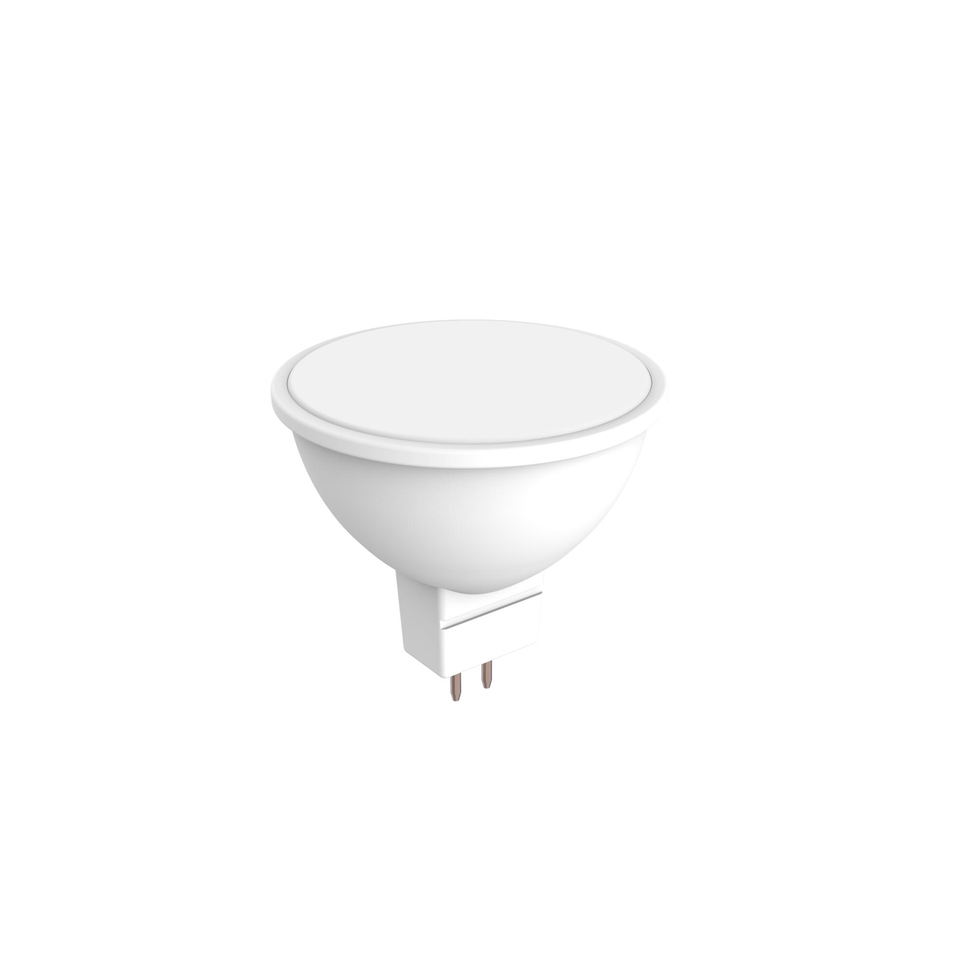 Лампа светодиодная Lexman GU5.3 220 В 6 Вт матовая 510 лм тёплый белый свет