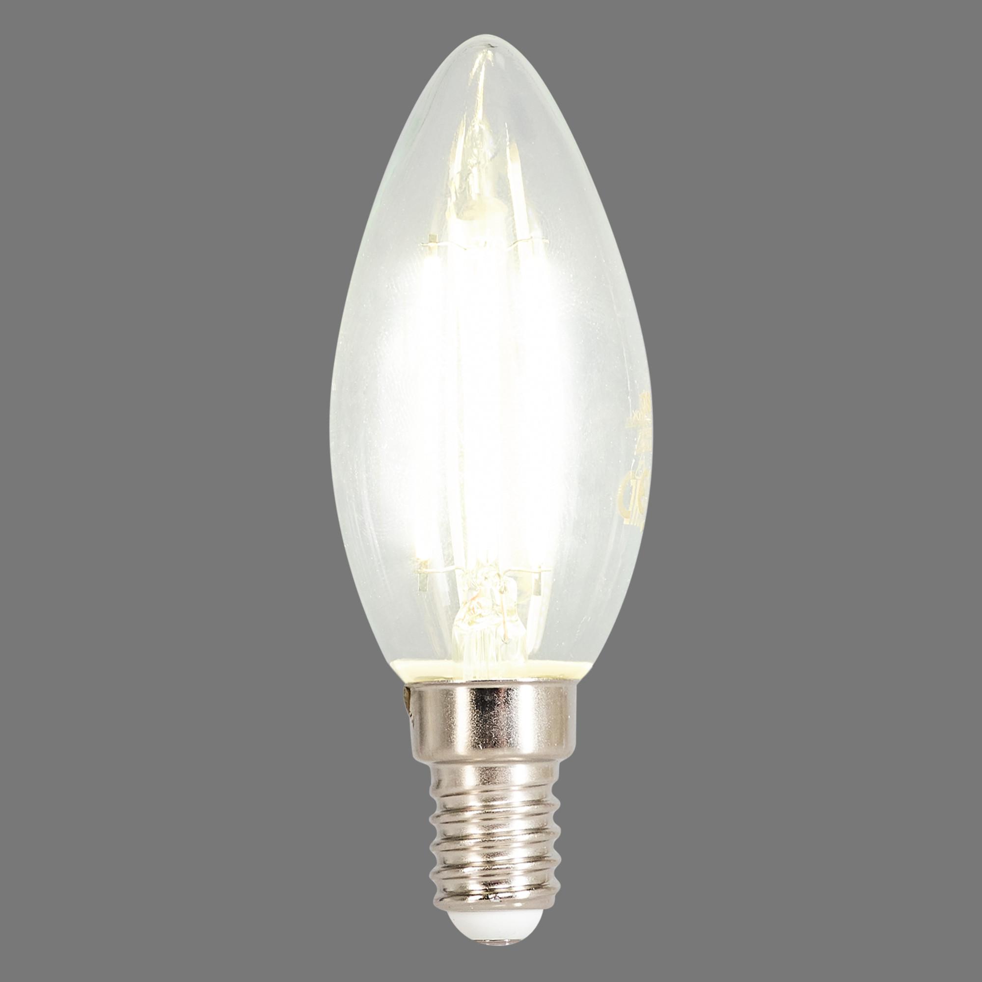 Лампа светодиодная филаментная Osram E14 220 В 5 Вт свеча прозрачная 520 лм белый свет для диммера