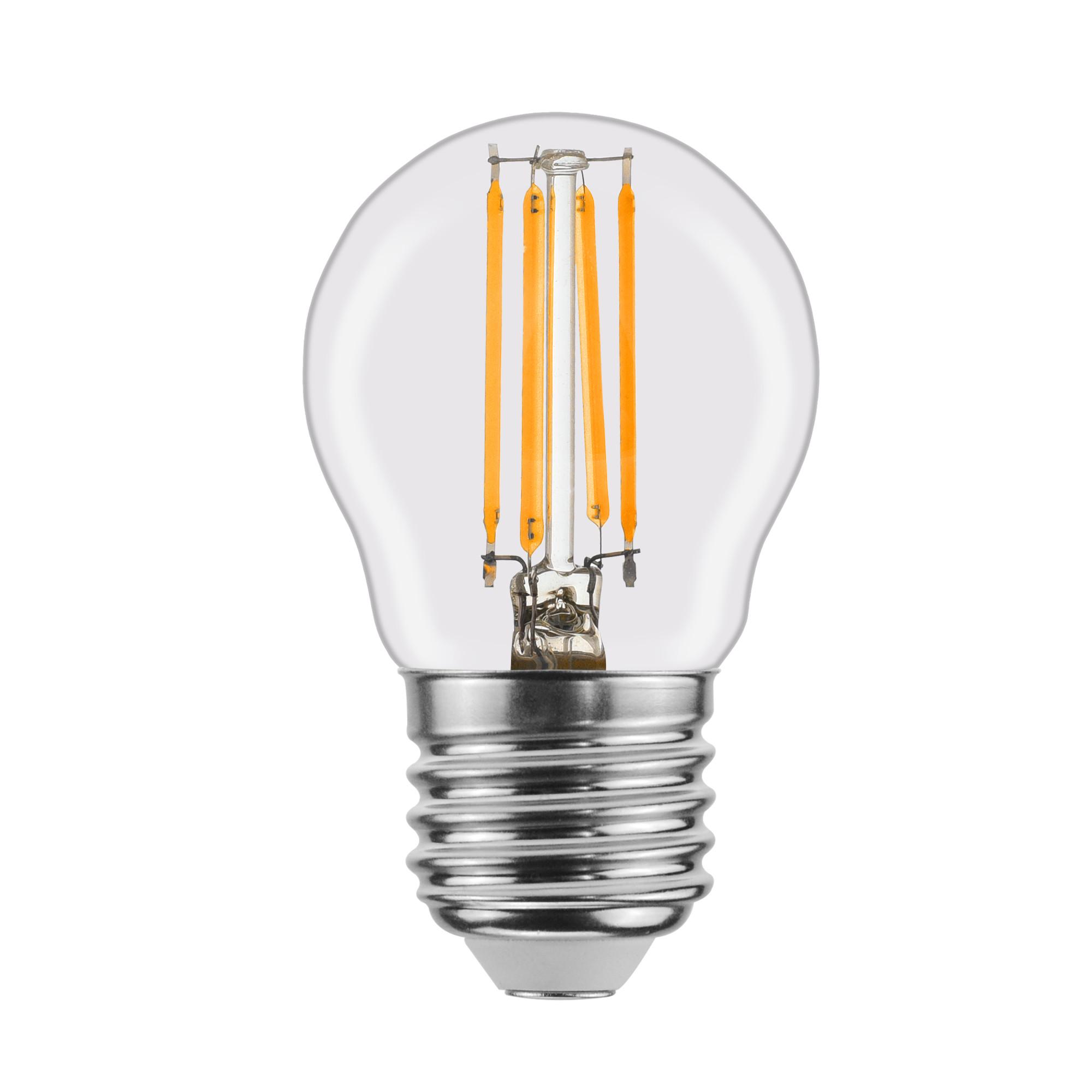 Лампа светодиодная филаментная Lexman E27 220 В 4.5 Вт шар прозрачный 470 лм белый свет