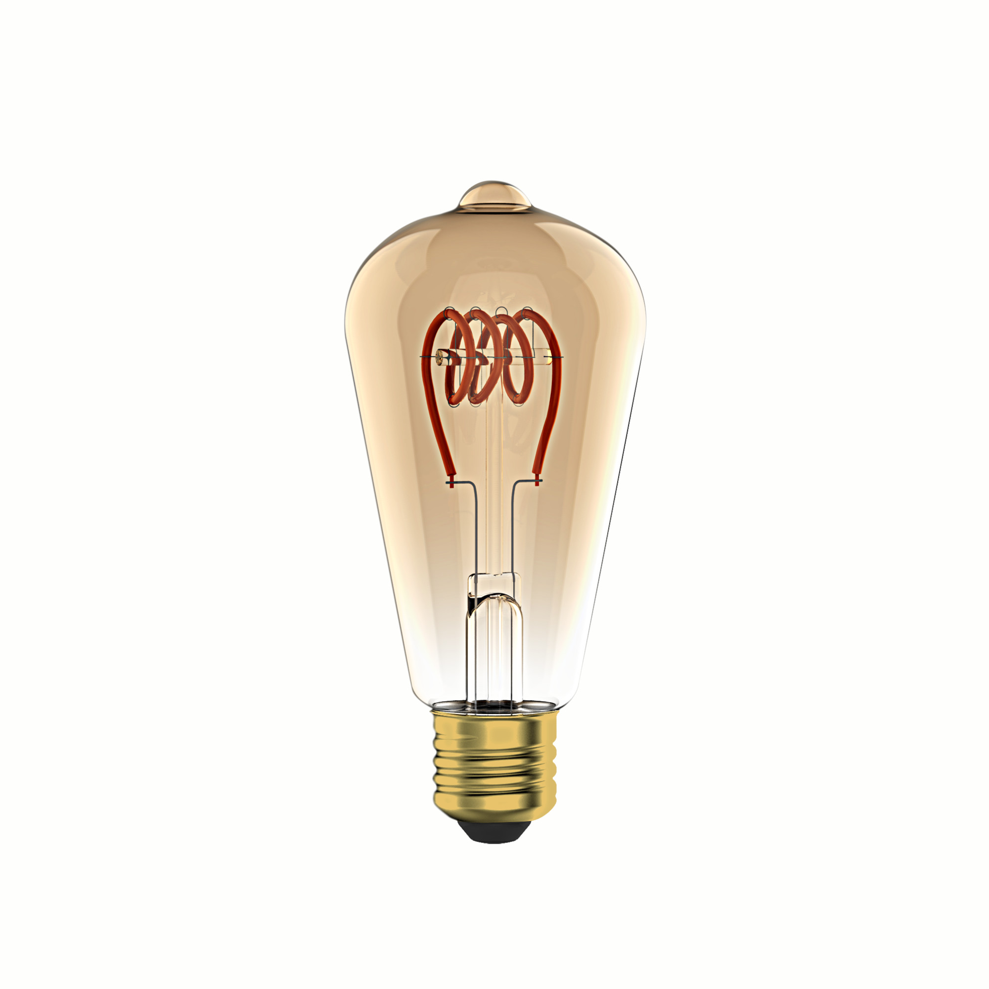 Лампа светодиодная филаментная Lexman E27 220 В 6 Вт груша янтарная 400 лм жёлтый свет