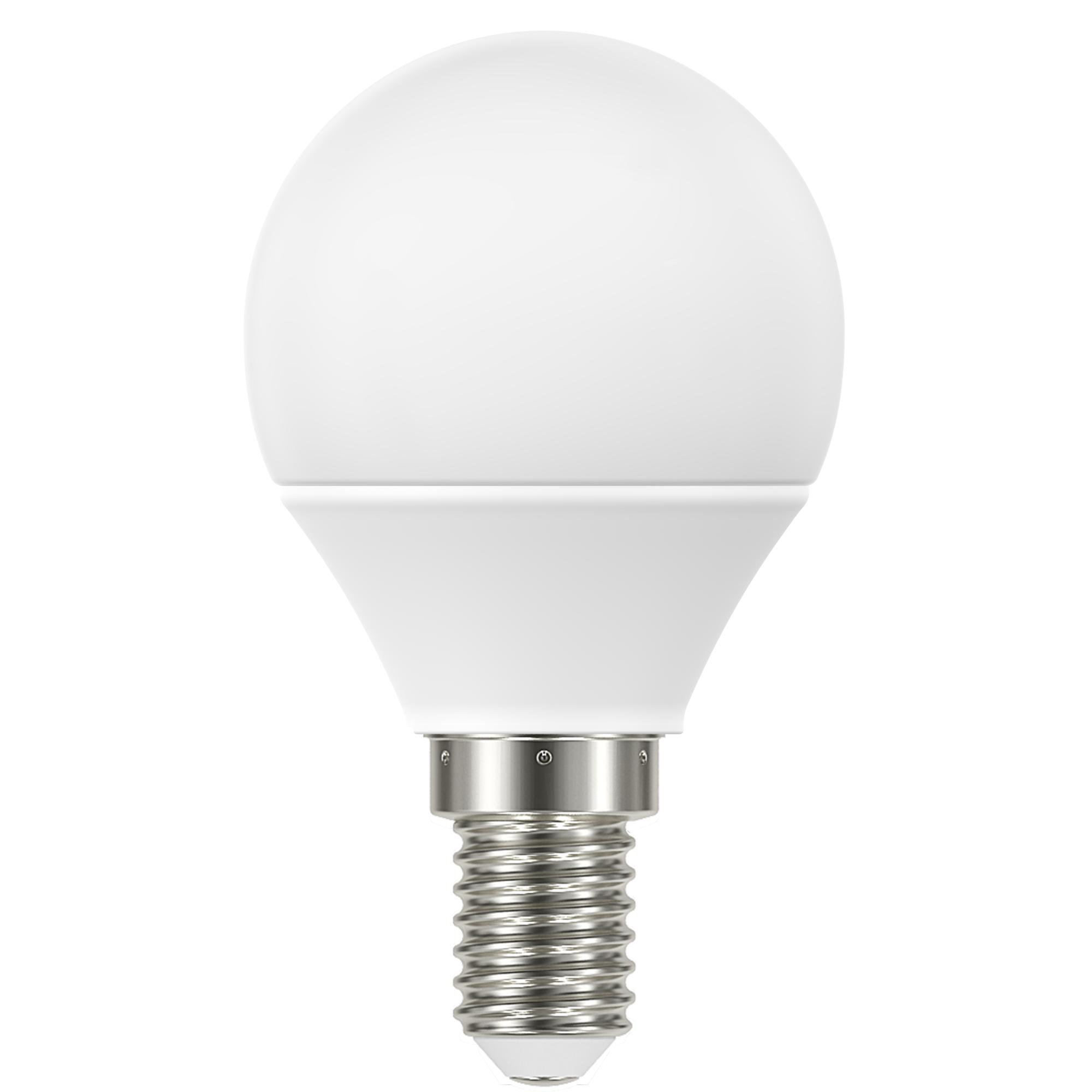 Лампа светодиодная Lexman E14 220 В 4.8 Вт шар матовая 470 лм белый свет