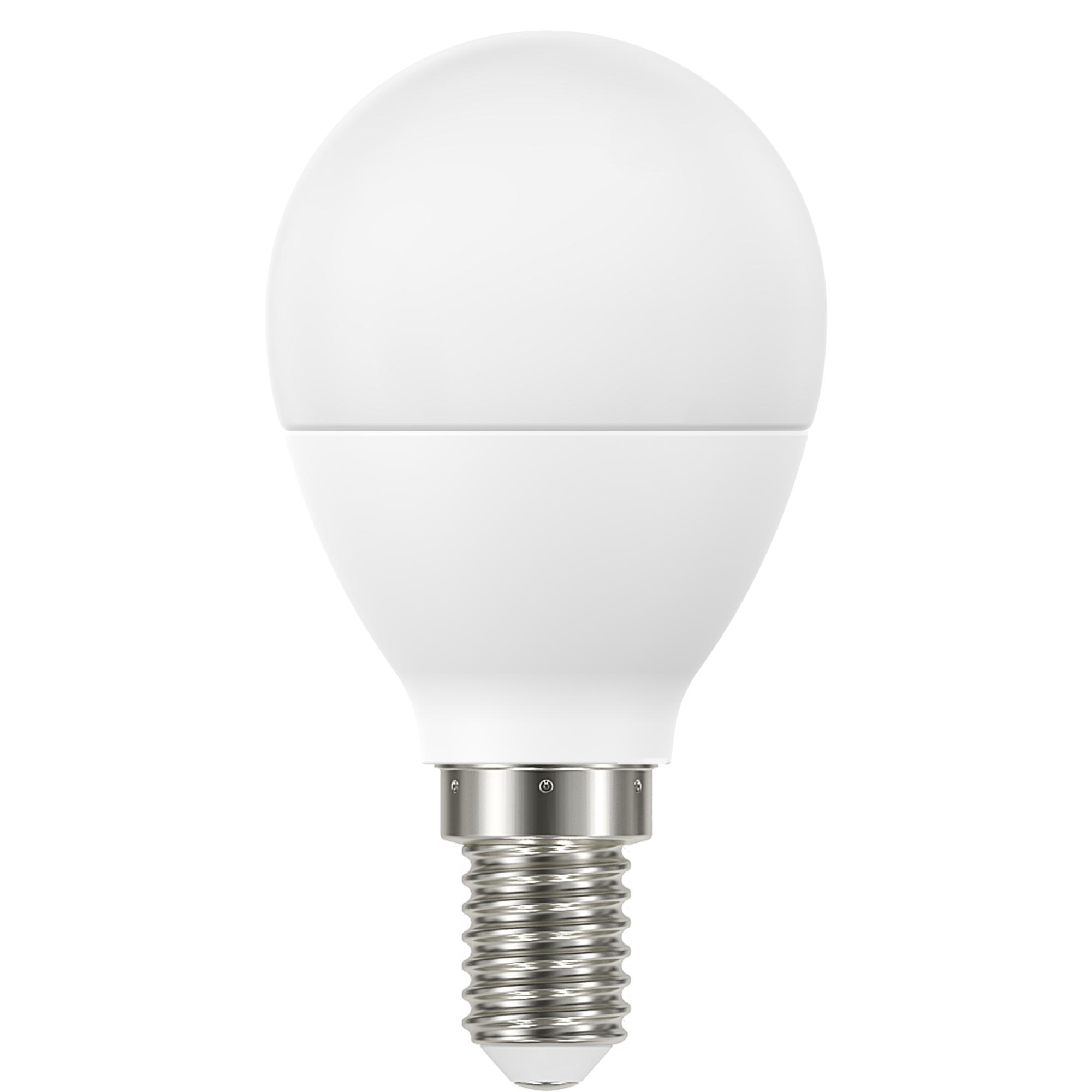 Лампа светодиодная Lexman E14 220 В 6.6 Вт шар матовая 806 лм белый свет