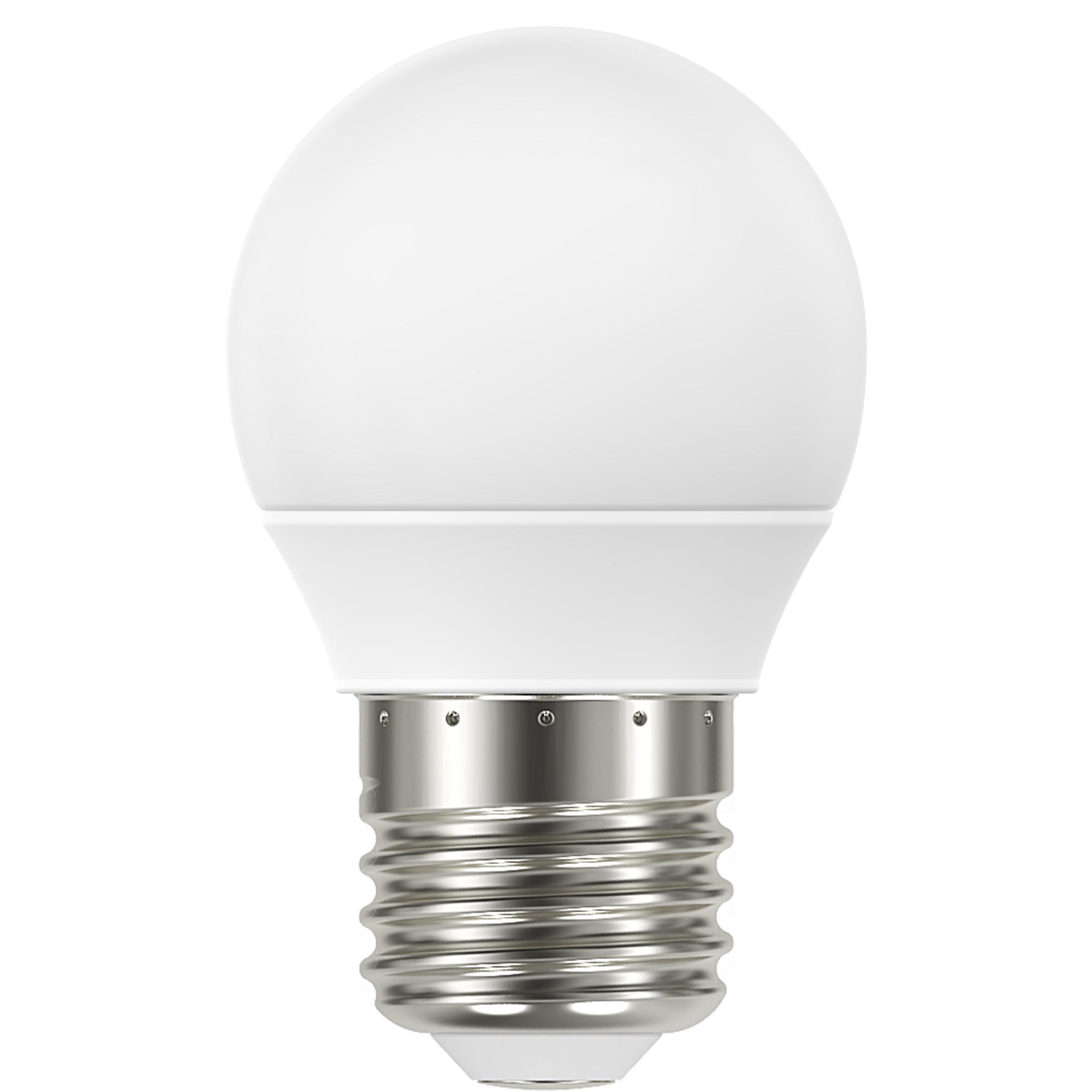 Лампа светодиодная Lexman E27 220 В 4.8 Вт сфера матовая 470 лм тёплый белый свет