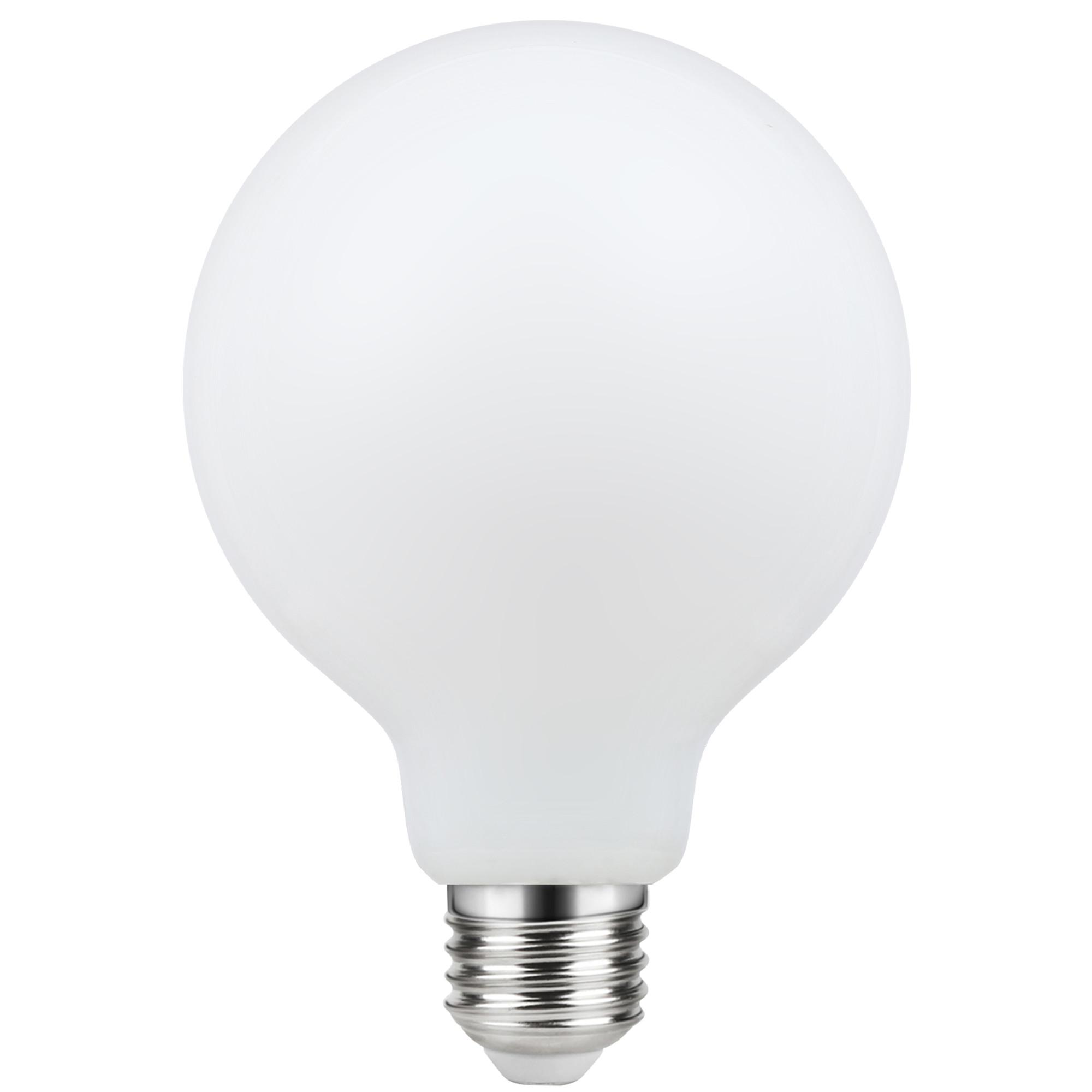 Лампа светодиодная филаментная Lexman E27 220 В 8.5 Вт шар матовый 1055 лм тёплый белый свет