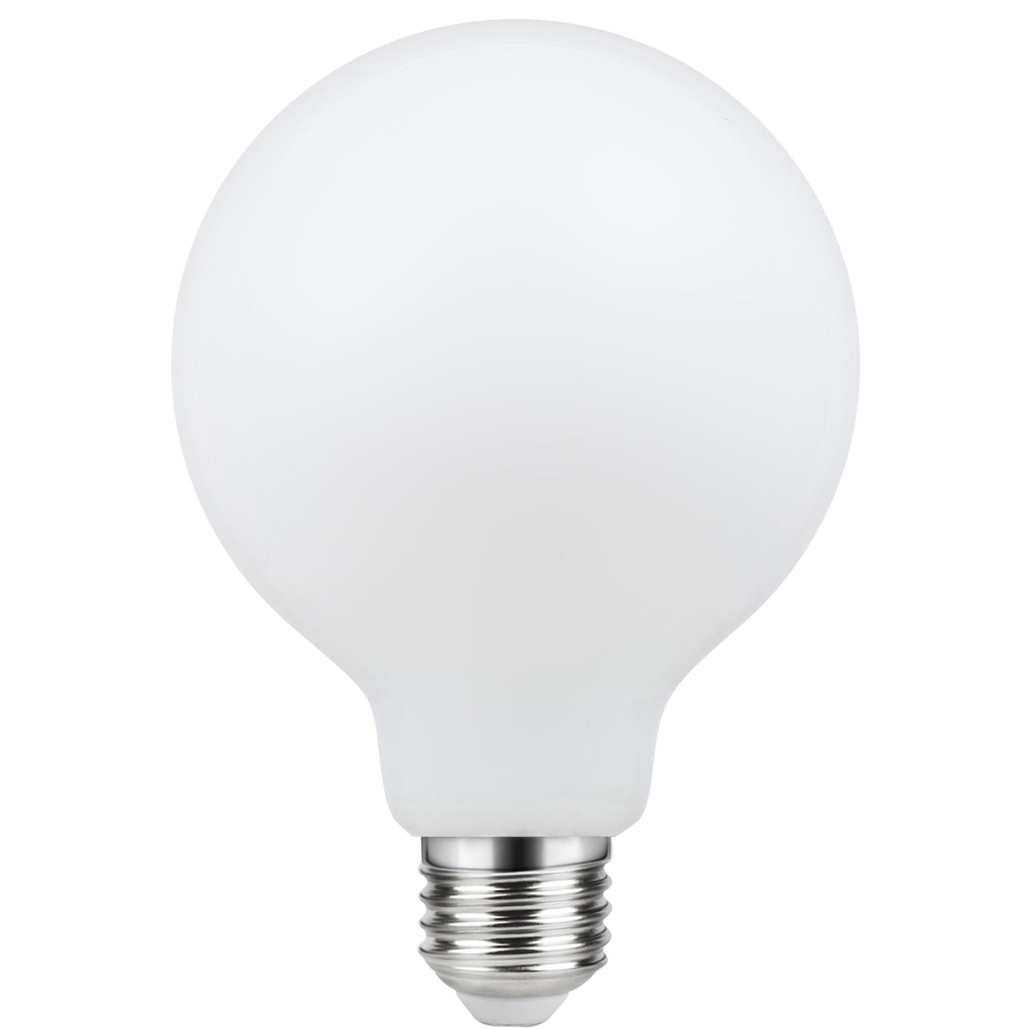 Лампа светодиодная филаментная Lexman E27 220 В 8.5 Вт шар матовый 1055 лм белый свет