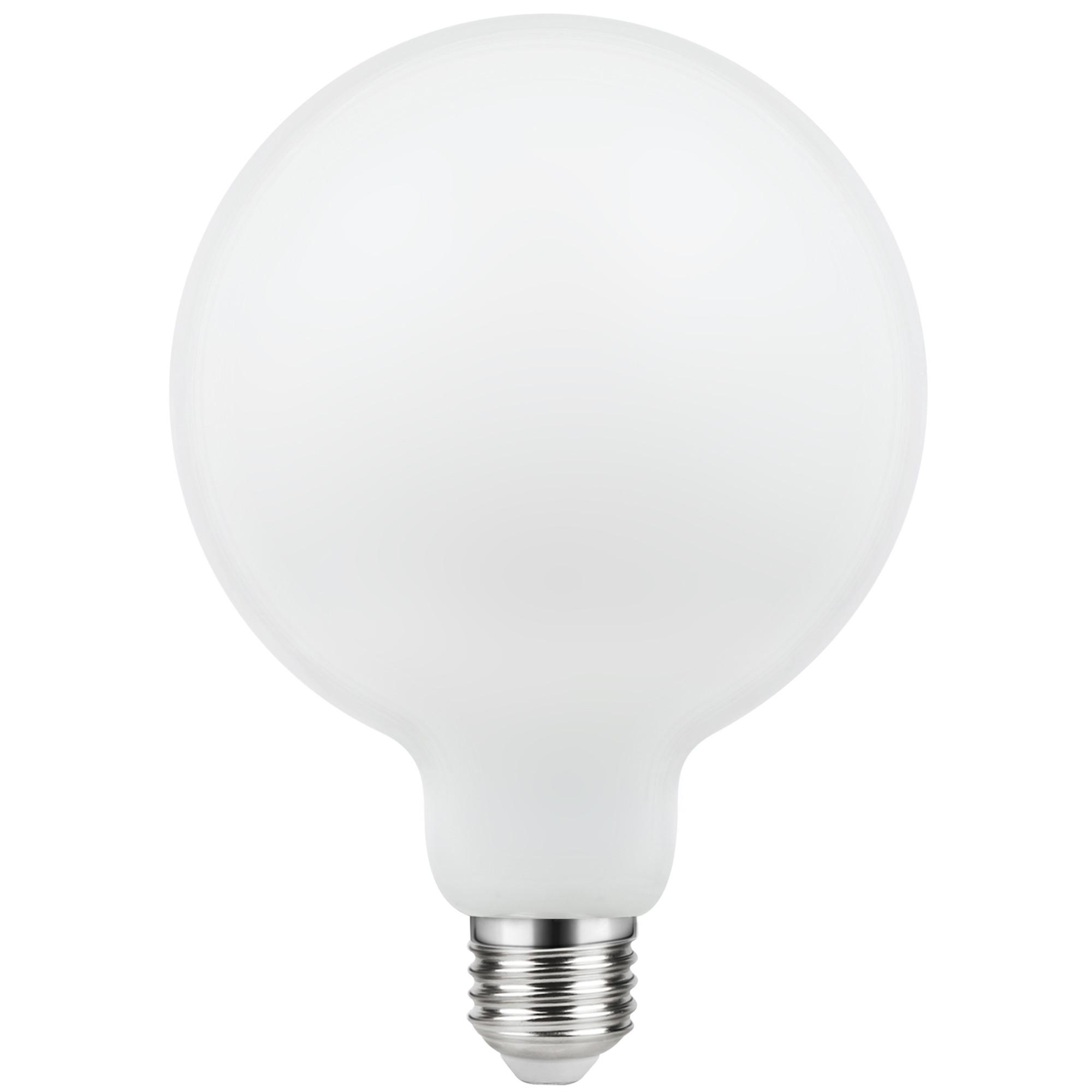 Лампа светодиодная филаментная Lexman E27 220 В 10.5 Вт шар матовый 1521 лм тёплый белый свет