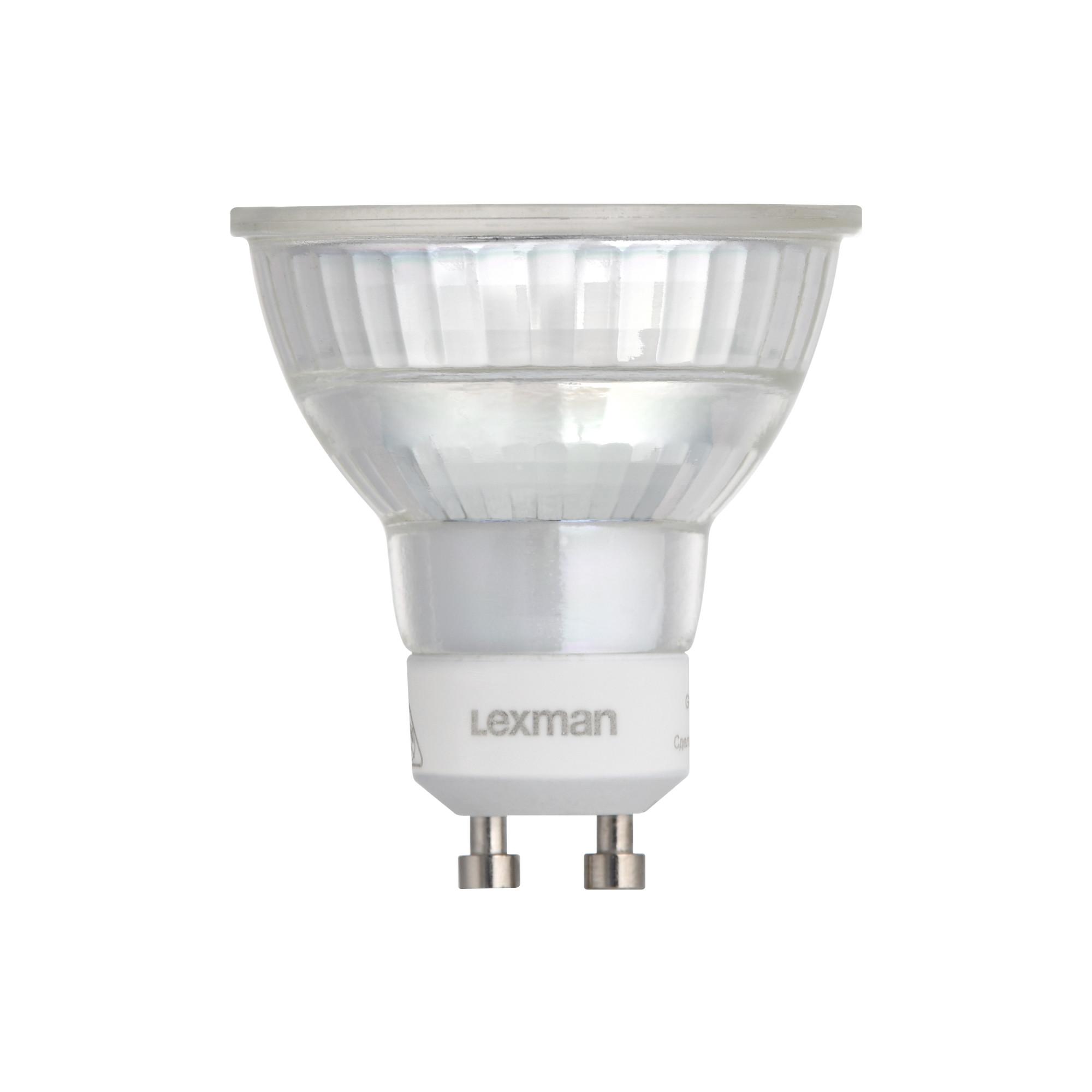 Лампа светодиодная Lexman GU10 220 В 5.2 Вт зеркальная прозрачная 460 лм белый свет