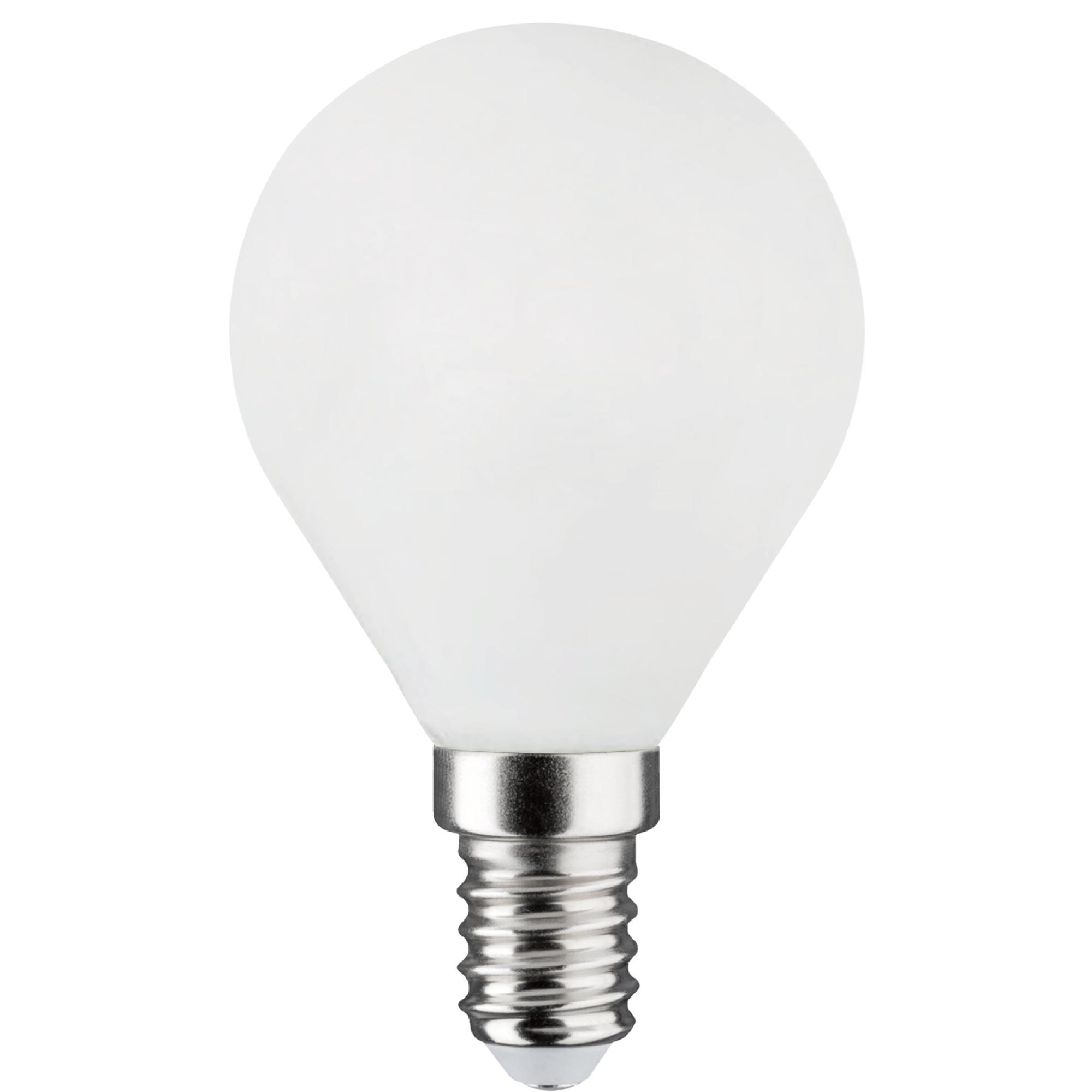 Лампа светодиодная филаментная Lexman E14 220 В 4.5 Вт сфера матовая 470 лм тёплый белый свет