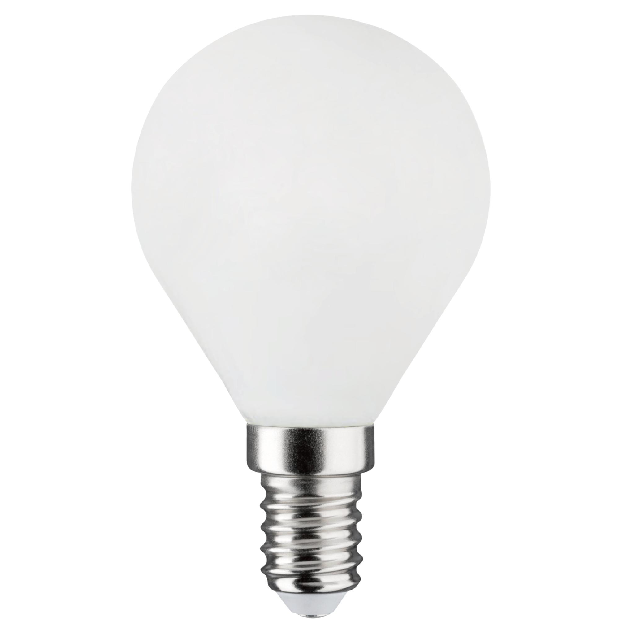 Лампа светодиодная филаментная Lexman E14 220 В 6.5 Вт сфера матовая 806 лм белый свет