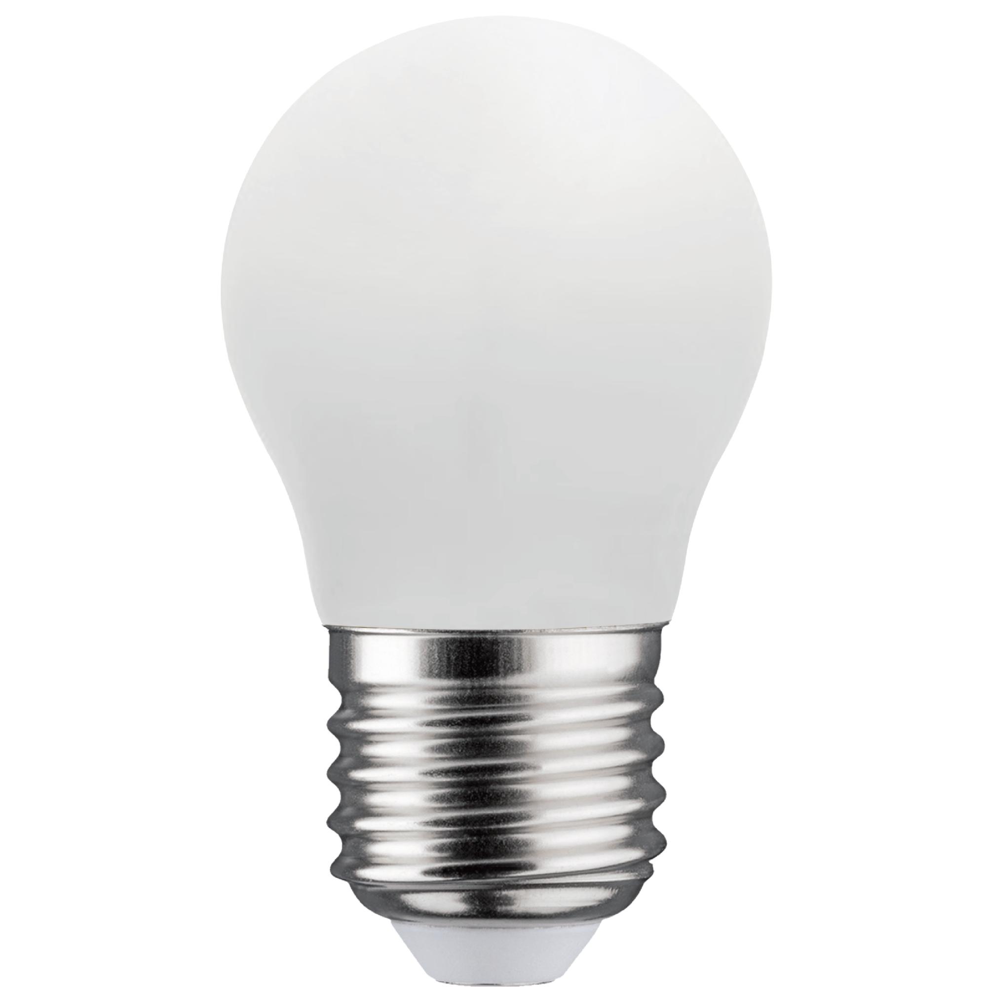Лампа светодиодная филаментная Lexman E27 220 В 4.5 Вт шар матовый 470 лм тёплый белый свет