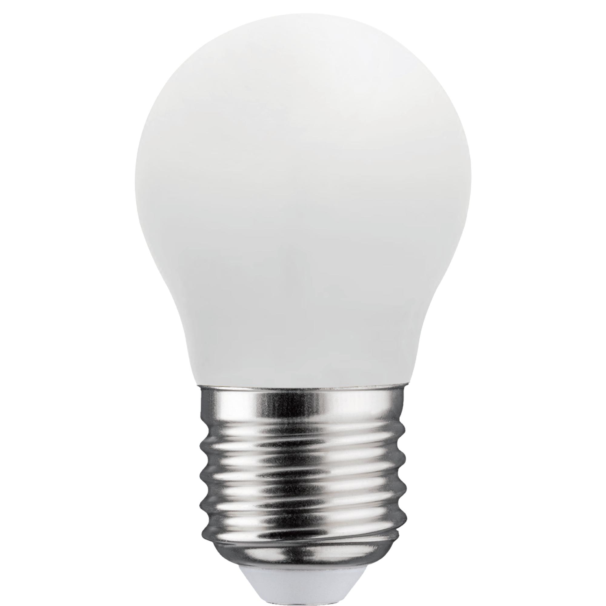 Лампа светодиодная филаментная Lexman E27 220 В 7 Вт шар матовый 806 лм тёплый белый свет