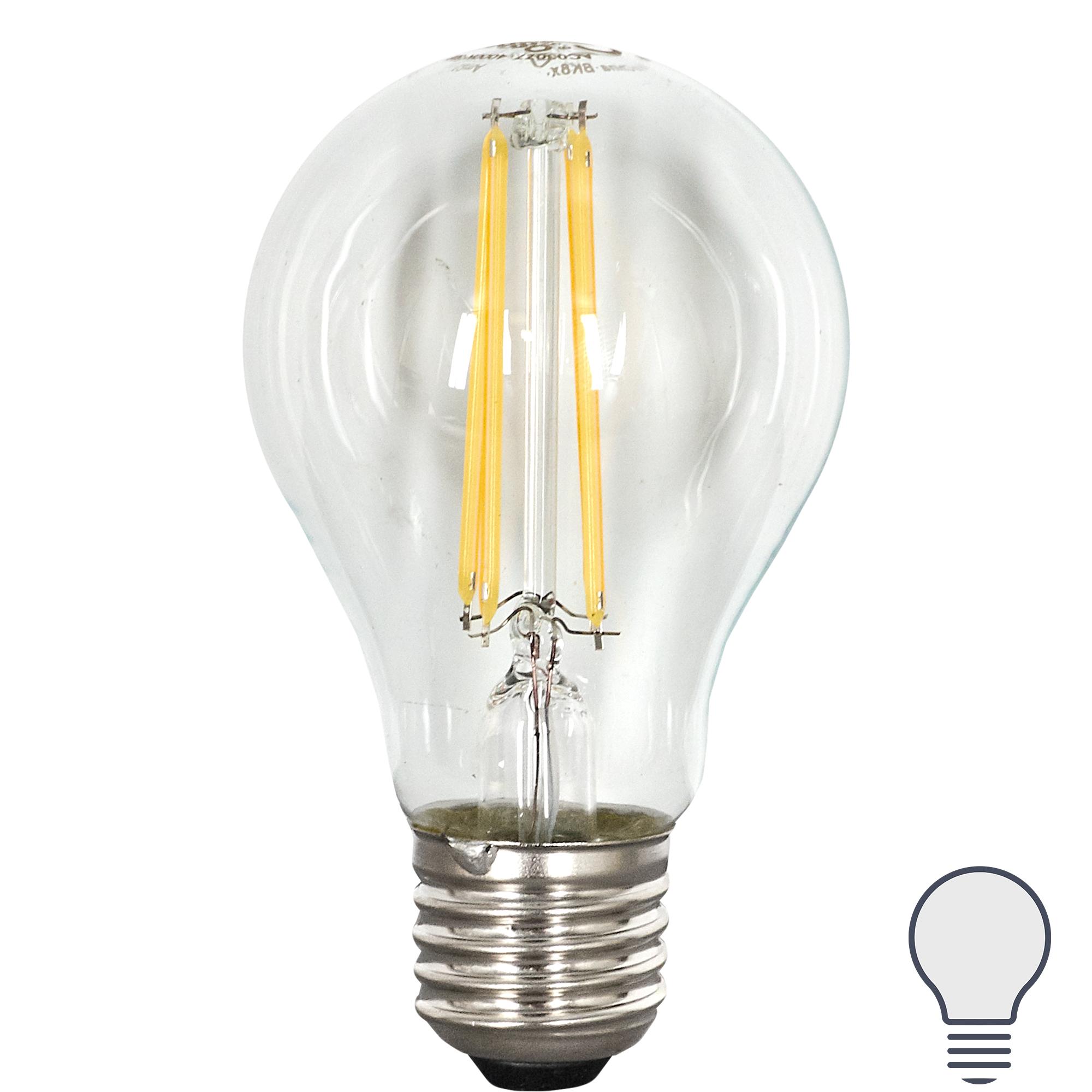 Лампа светодиодная Osram E27 220 В 7 Вт груша прозрачная 806 лм белый свет