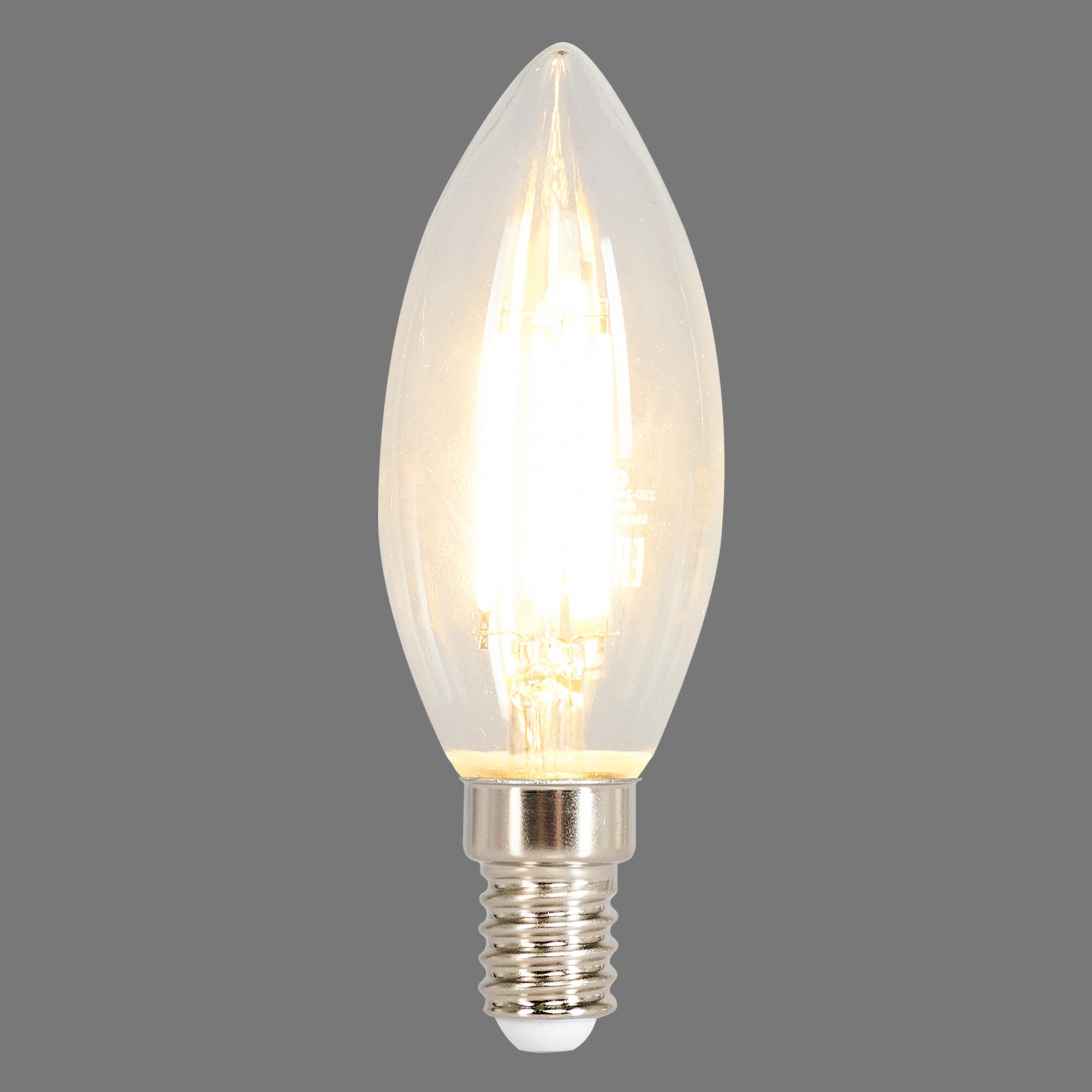 Лампа светодиодная Osram E14 220 В 6 Вт свеча прозрачная 800 лм тёплый белый свет