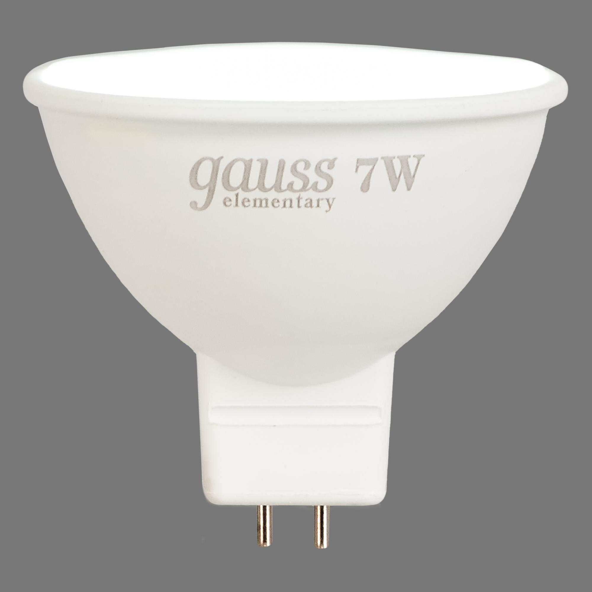 Лампа светодиодная Gauss GU5.3 7 Вт спот 570 лм холодный белый свет