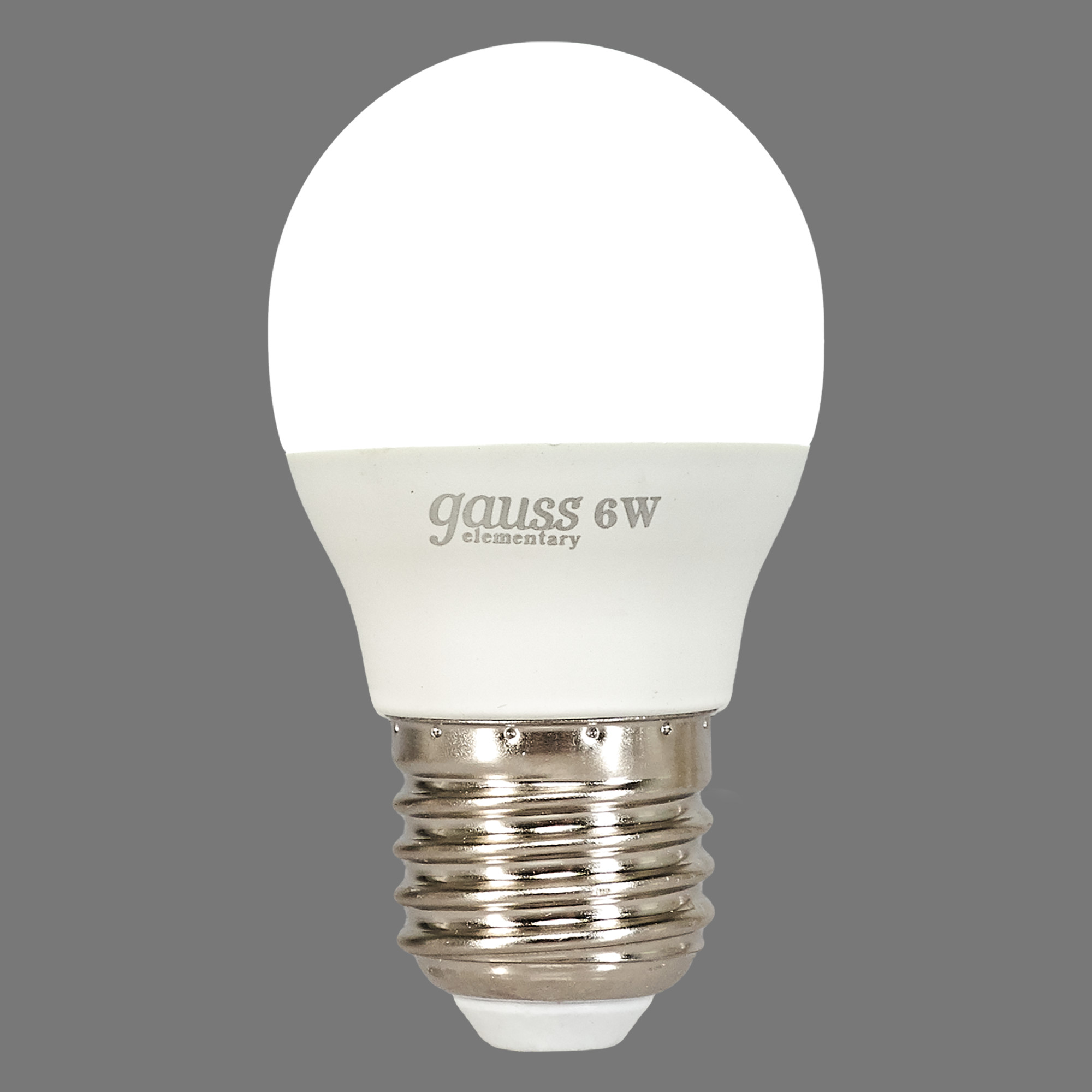 Лампа светодиодная Gauss E27 6 Вт шар матовый 470 лм холодный белый свет