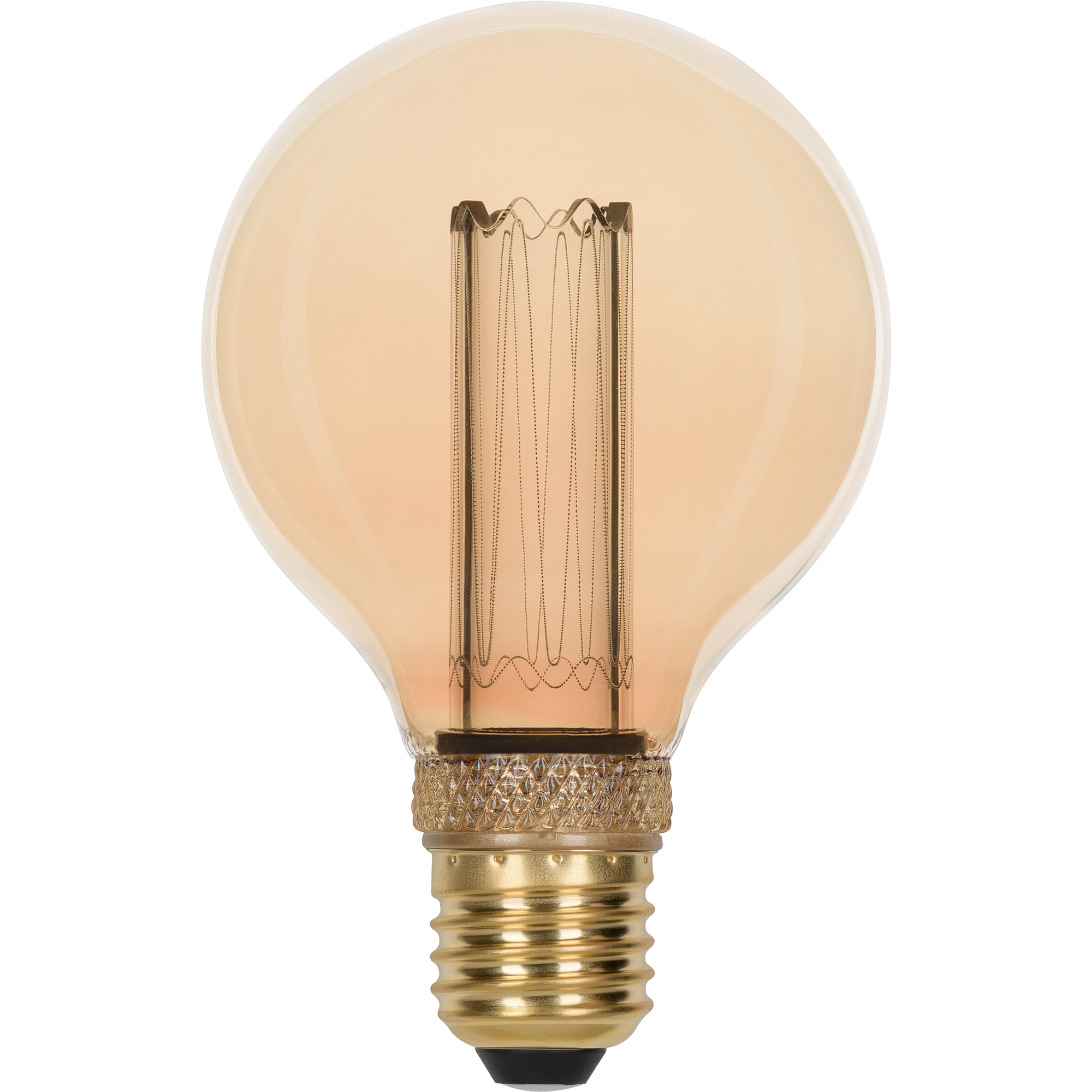 Лампа светодиодная филаментная Gauss Vintage G95 E27 230 В 4 Вт шар 220 лм свет янтарный