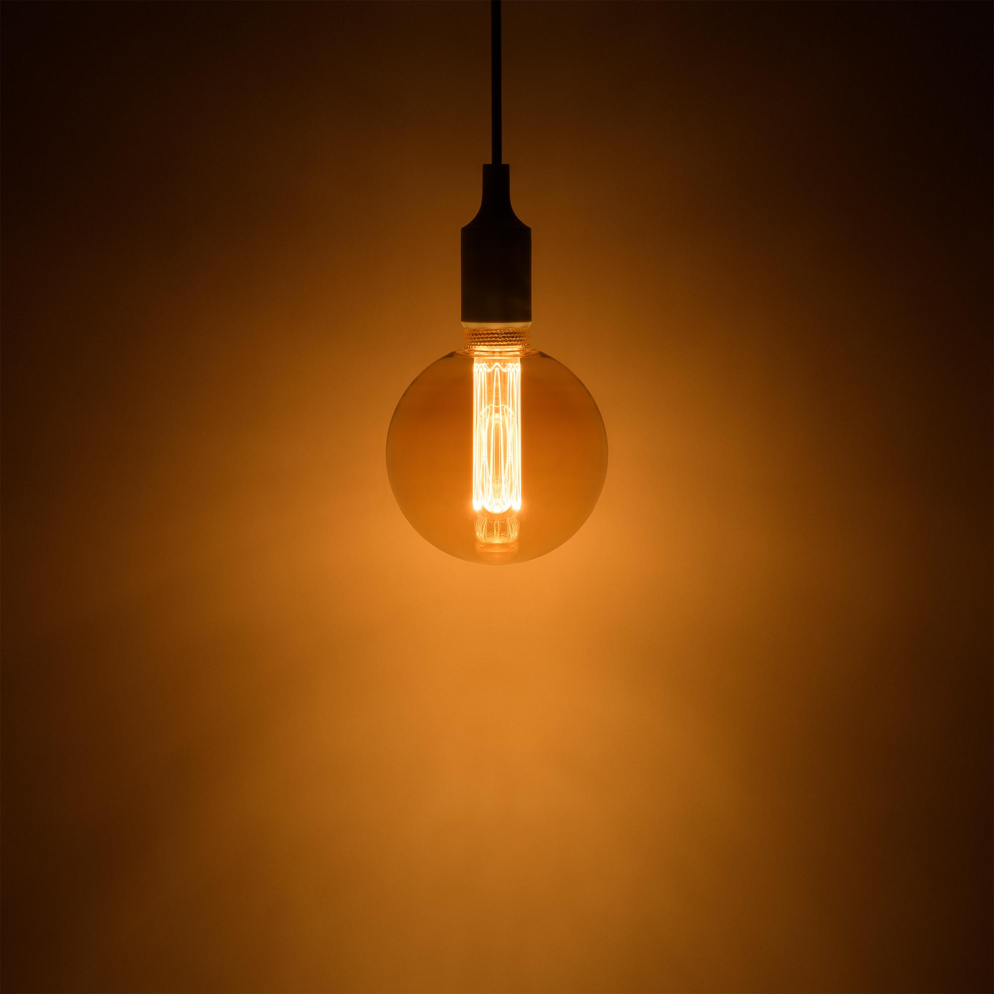 Лампа светодиодная филаментная Gauss Vintage G125 E27 230 В 4 Вт шар 220 лм свет янтарный