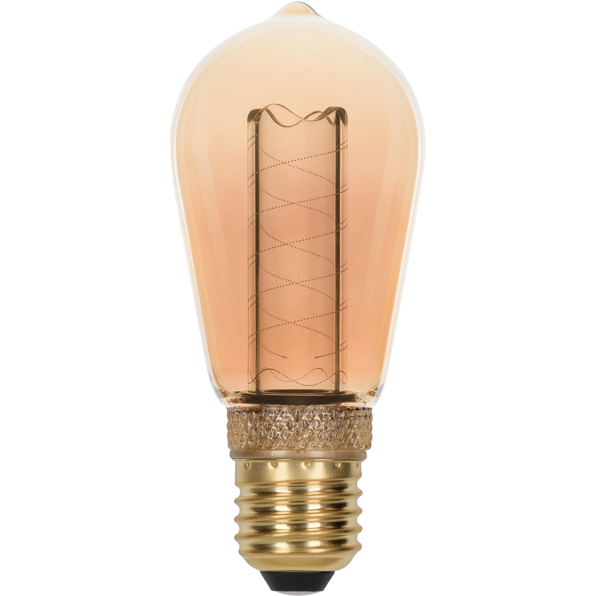 Лампа светодиодная филаментная Gauss Vintage E27 230 В 2.5 Вт конус 130 лм свет янтарный
