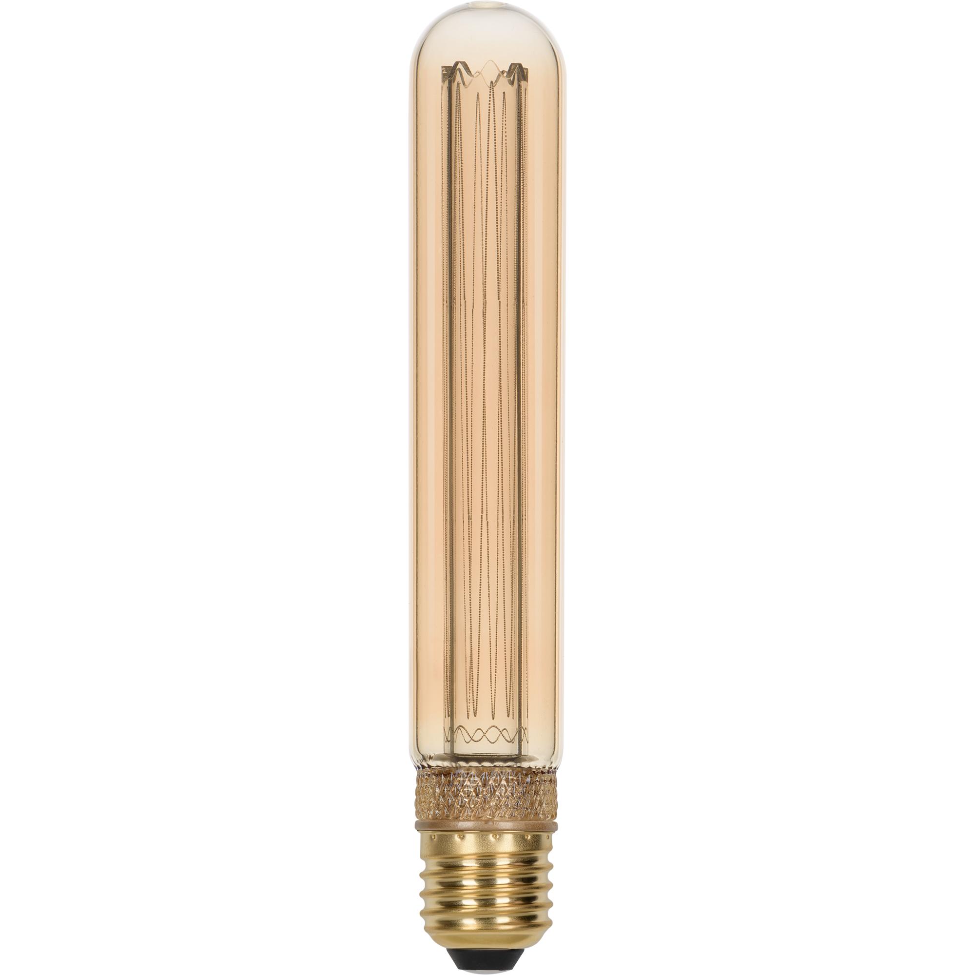 Лампа светодиодная филаментная Gauss Vintage E27 230 В 2.5 Вт трубка 70 лм свет янтарный