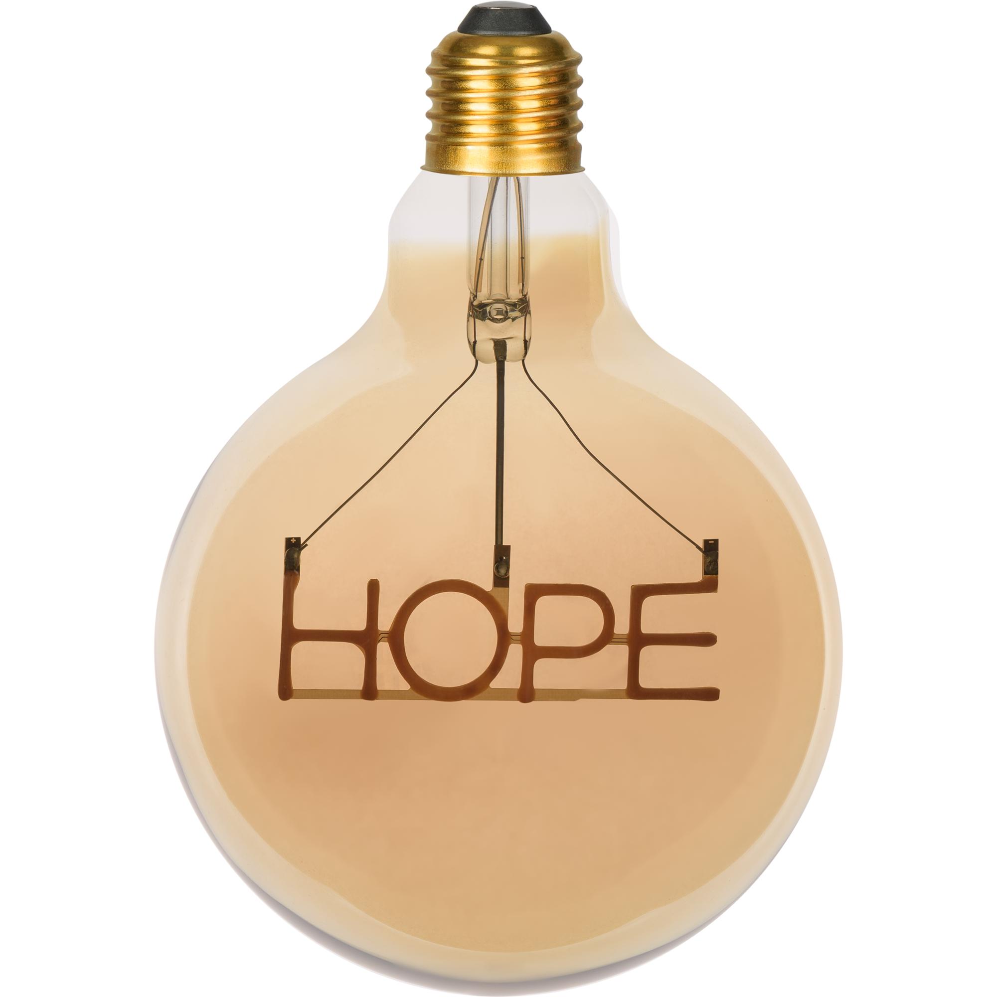 Лампа светодиодная филаментная Gauss Hope E27 230 В 2.5 Вт шар прозрачный с золотистым напылением 220 лм тёплый белый свет
