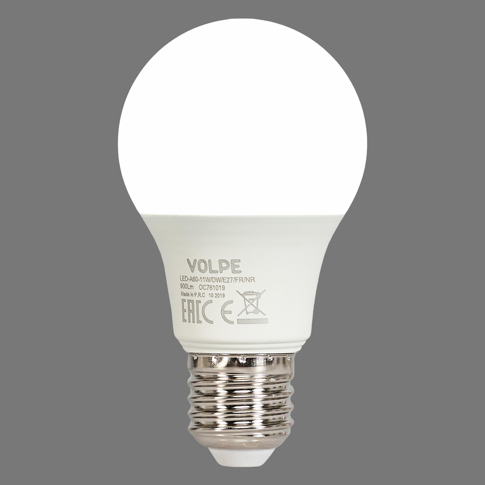 Лампа светодиодная E27 11 Вт груша матовая 900 лм холодный белый свет