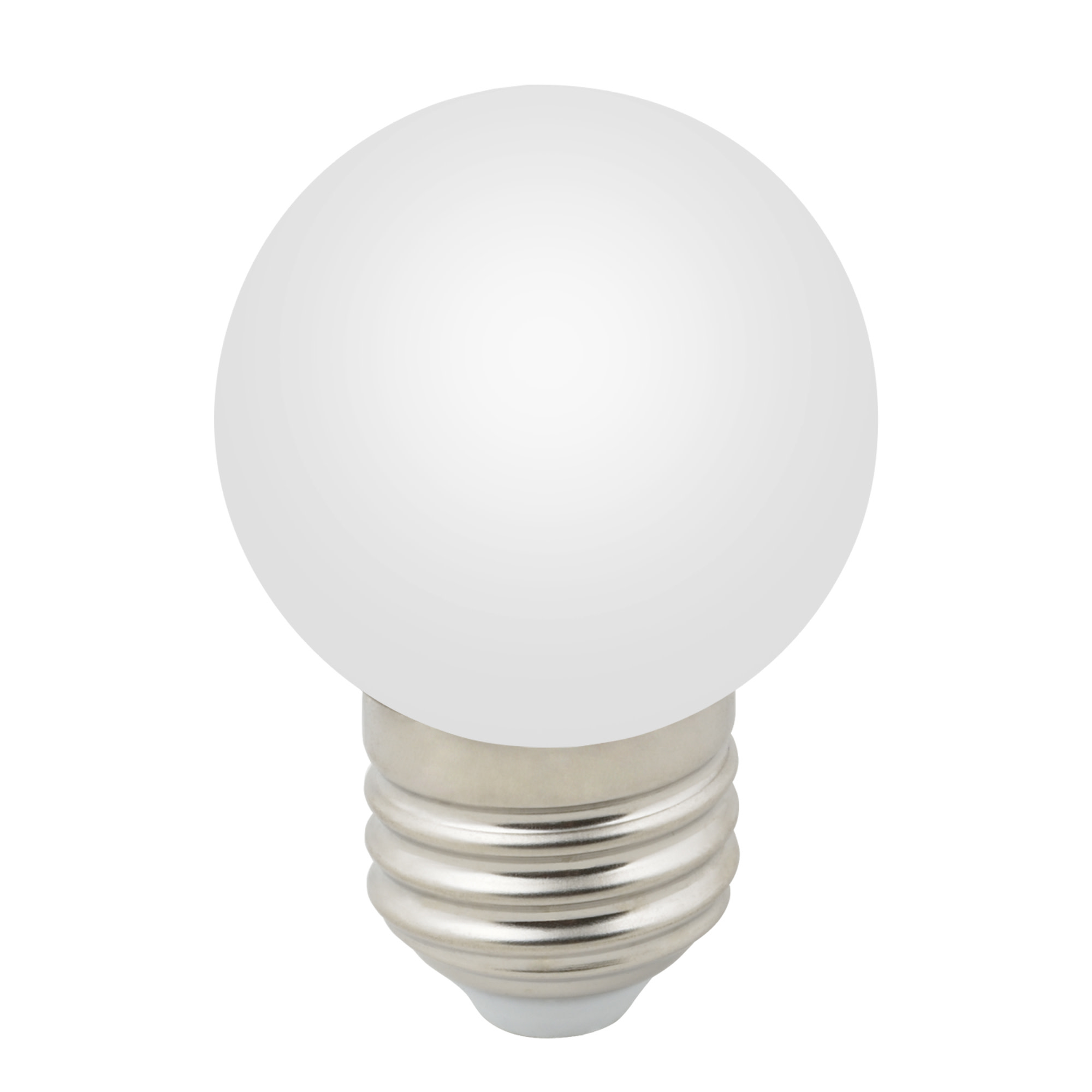 Лампа светодиодная E27 12/220 1 Вт шар матовая 80 лм теплый белый свет